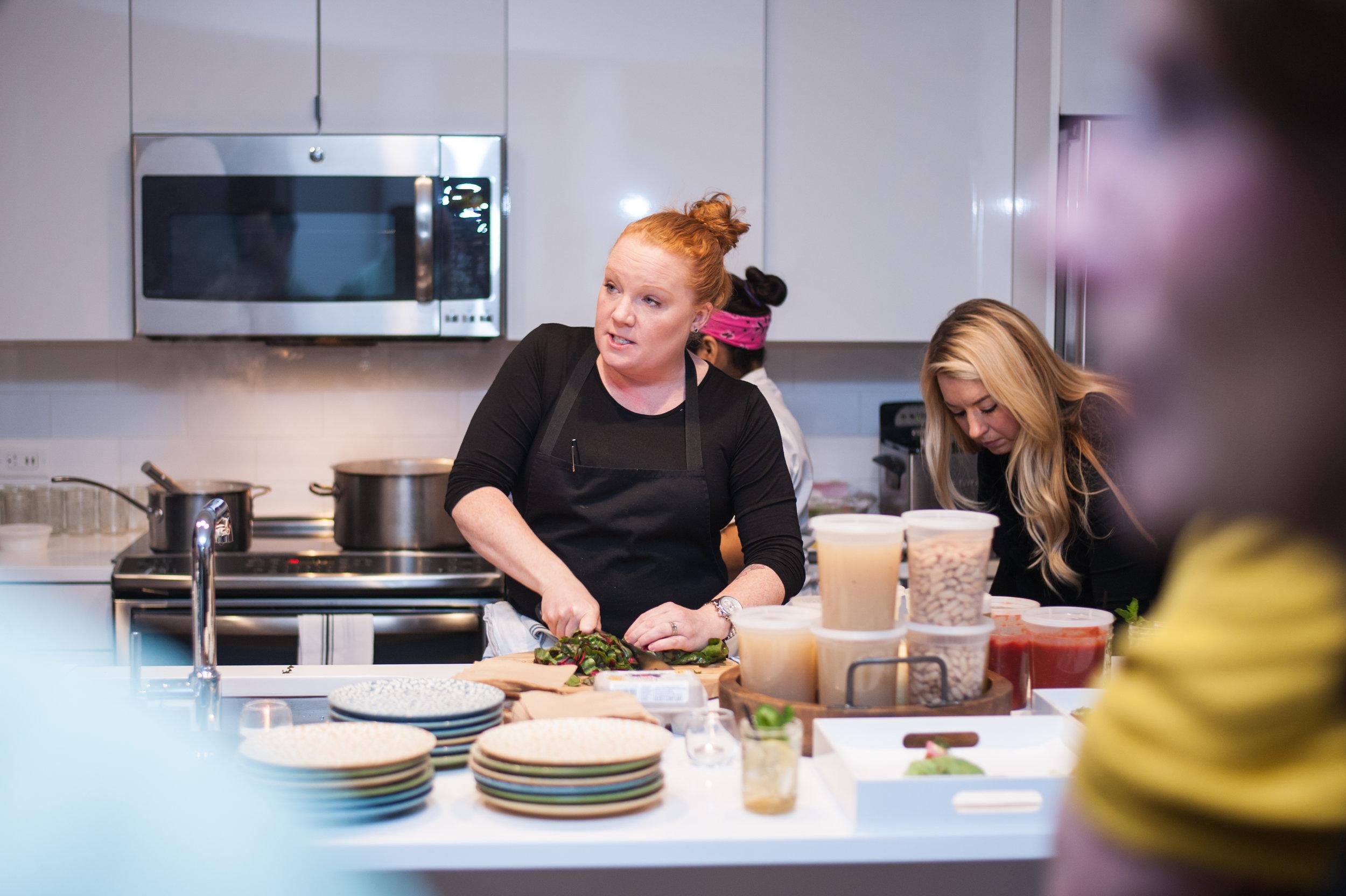 Cooking demonstration gets hands on