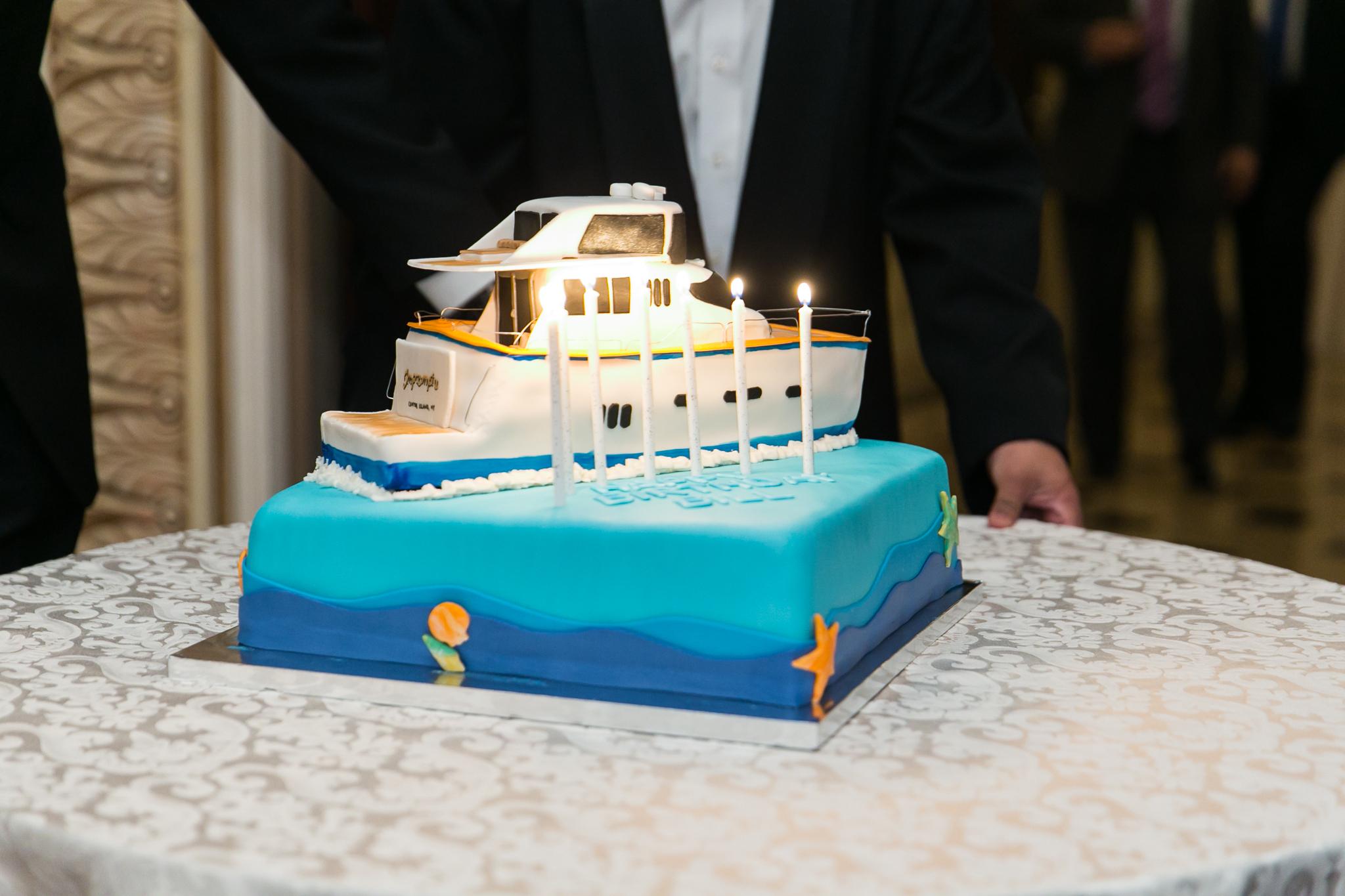 CUSTOM-MADE YACHT BIRTHDAY CAKE
