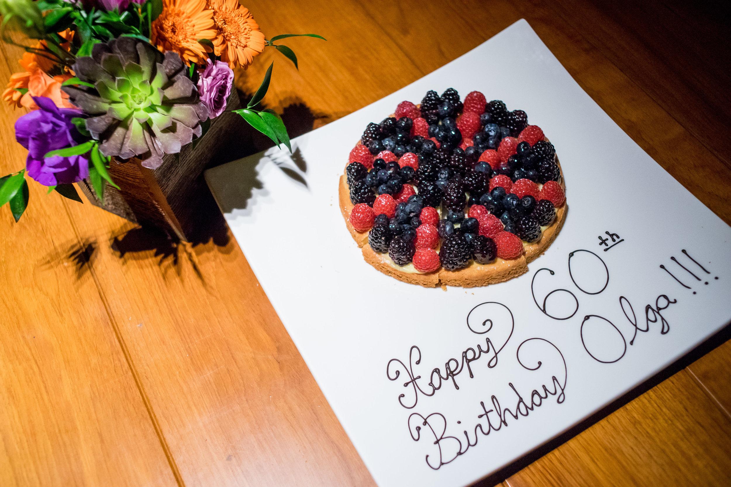 Birthday tart