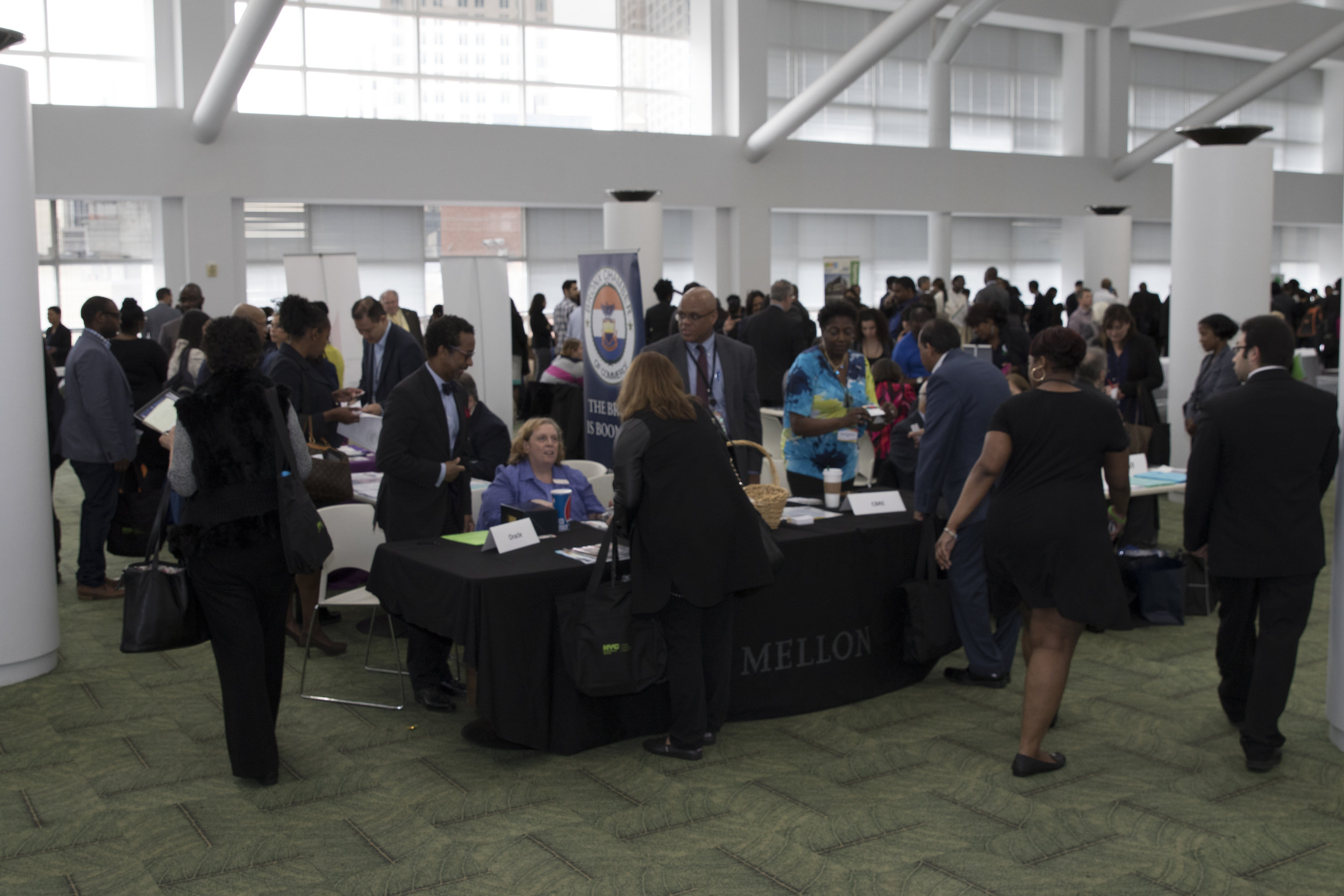 Crowd networking with 700 certified Minority and Women-owned Business Enterprises