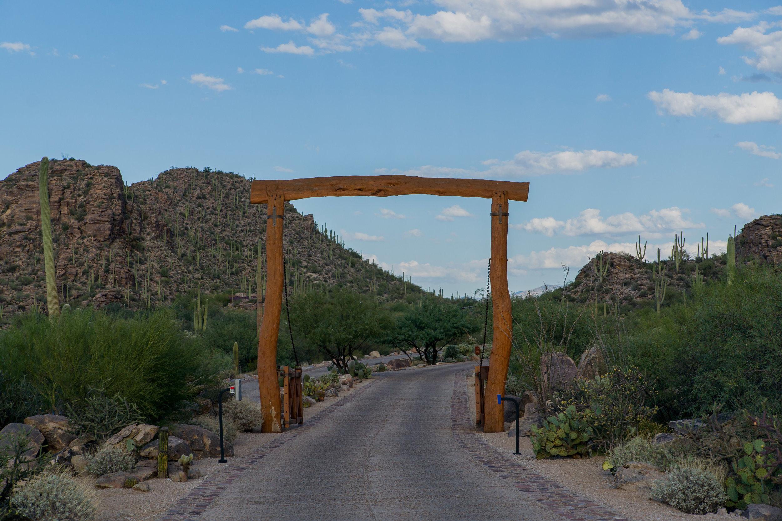 Gate to enter saguaro ranch