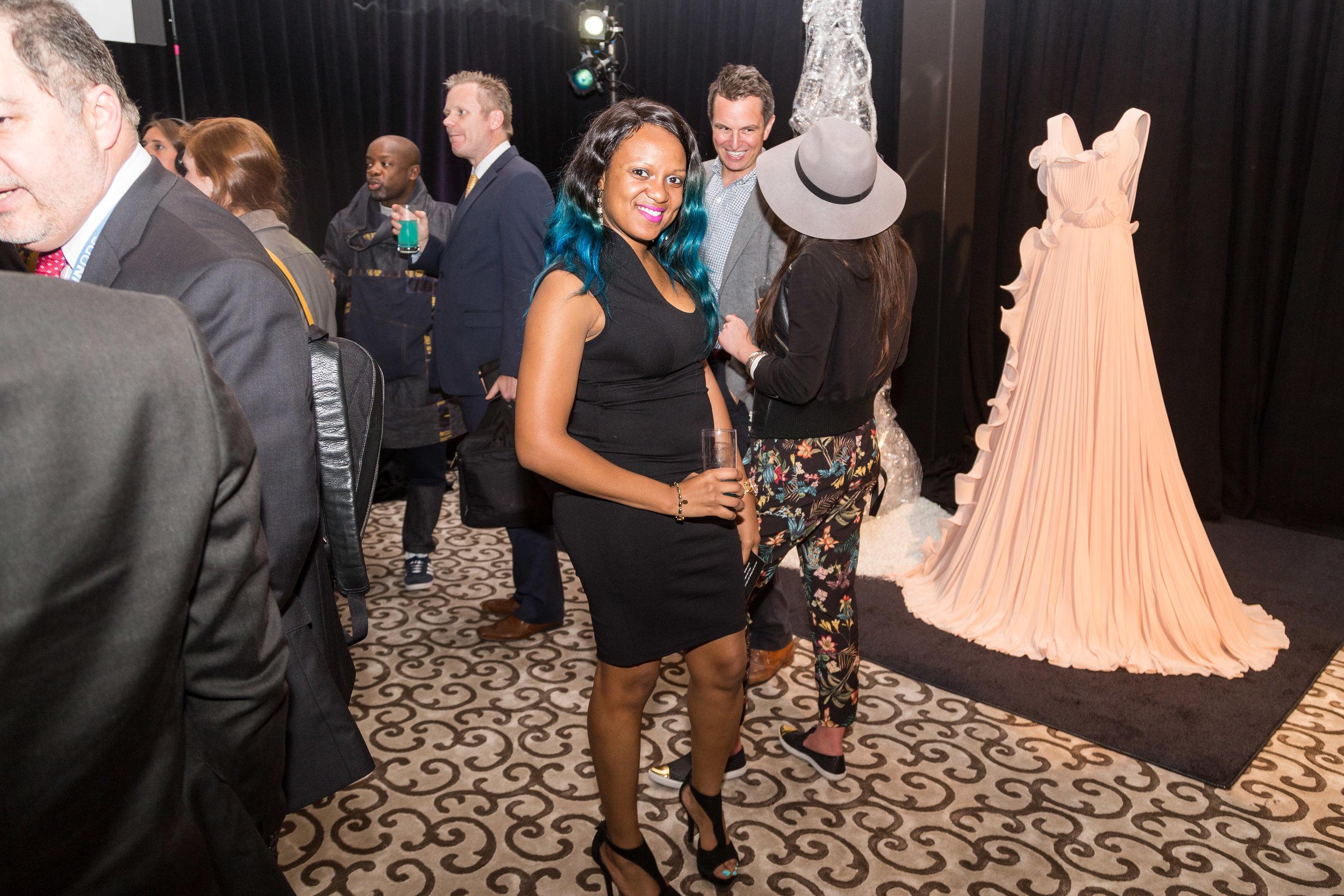 GUEST ADMIRES H&M'S BIONIC DRESS