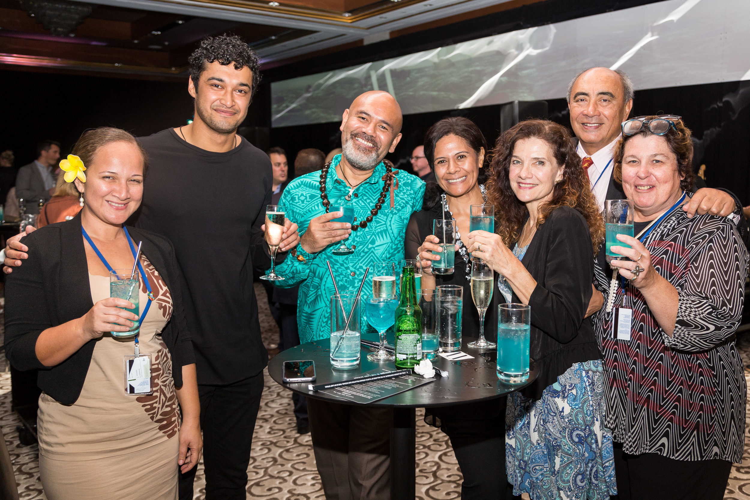 GUESTS DRINK BLUE LYCHEE MARTINIS WITH THE LAST STRAW IN EACH OTHER'S COMPANY