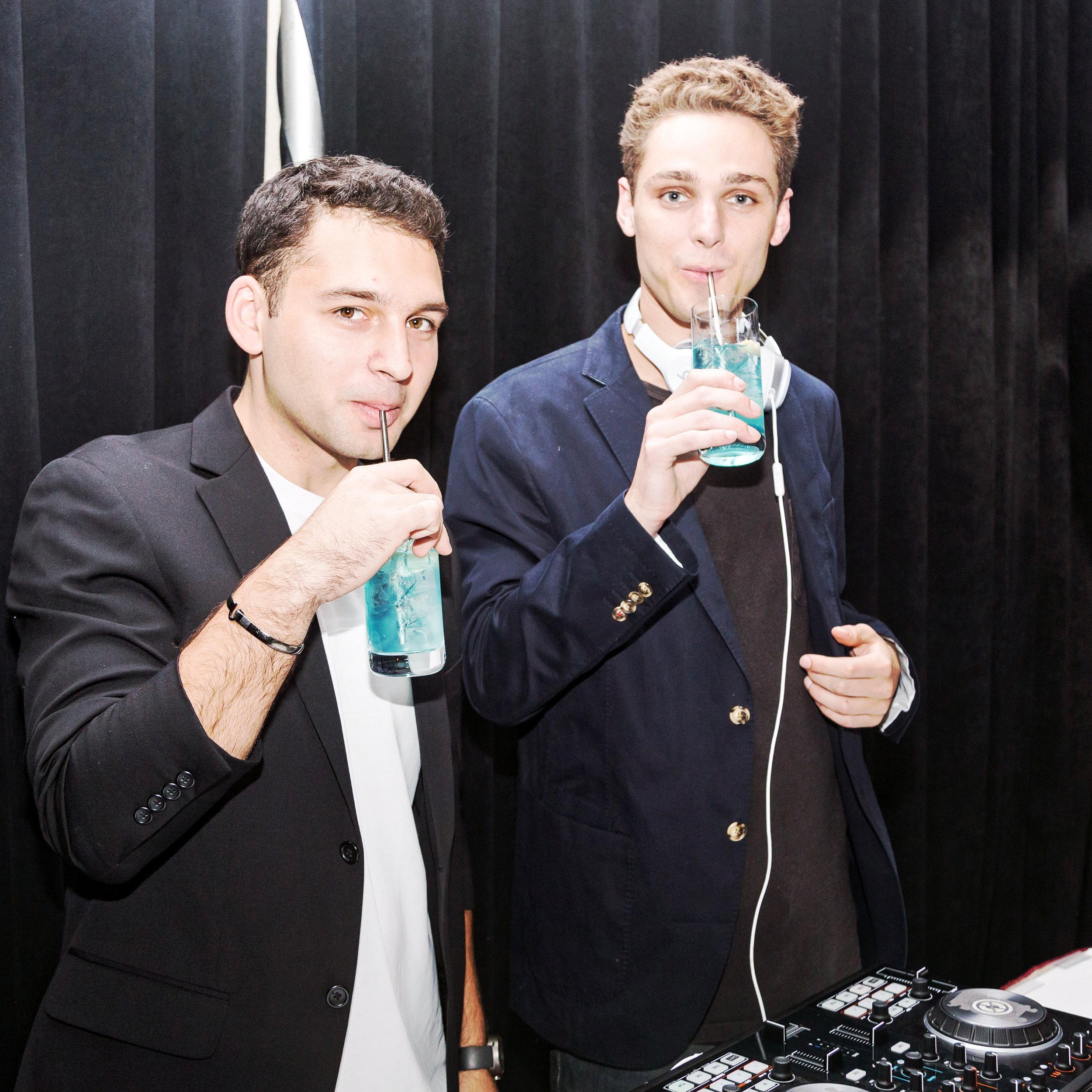 DJ ED AND DJ COCO HAVING A DRINK WITH THE LAST STRAW