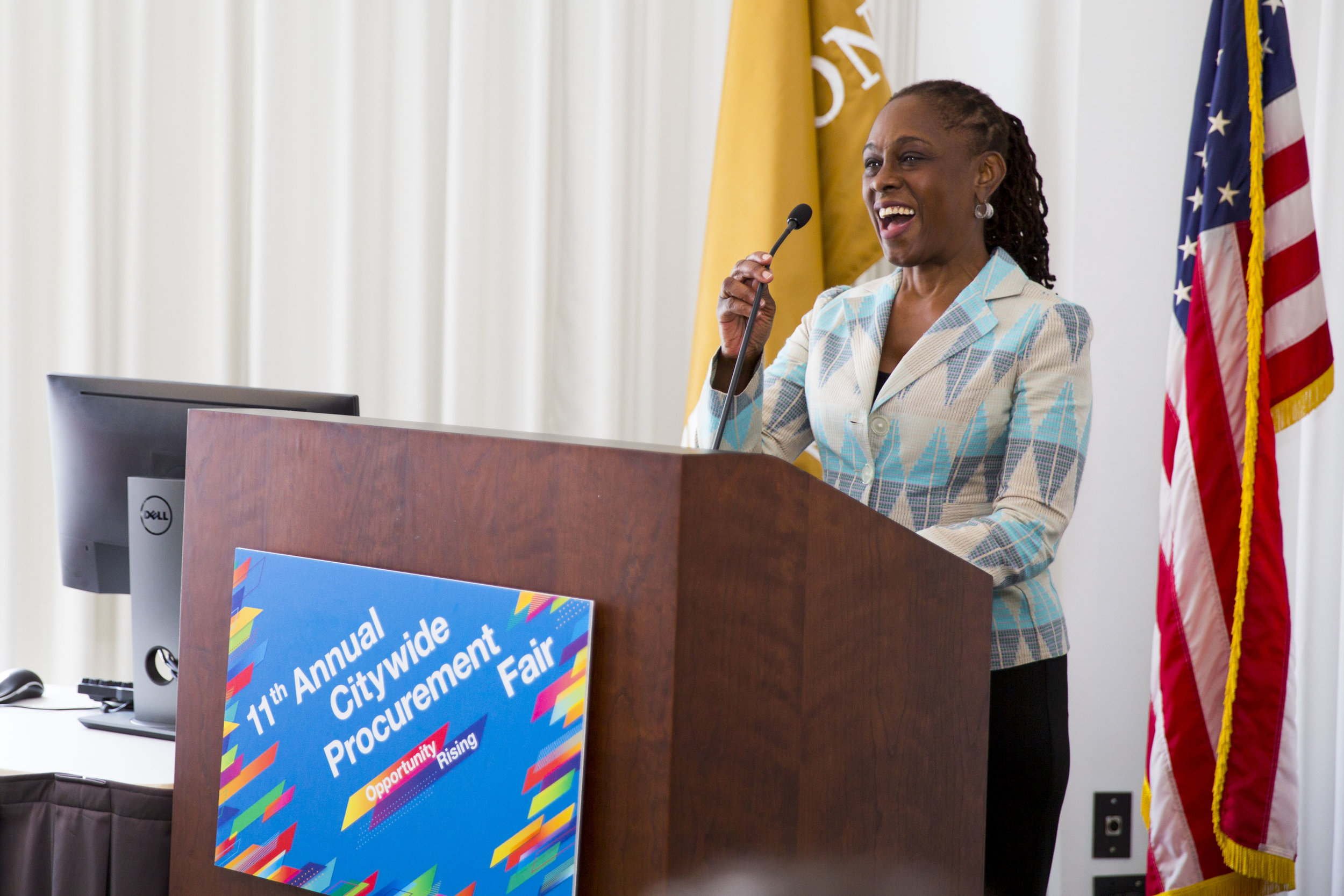 FIRST LADY CHIRLANE MCCRAY SPEAKS IN SBS OPPORTUNITY ROOM