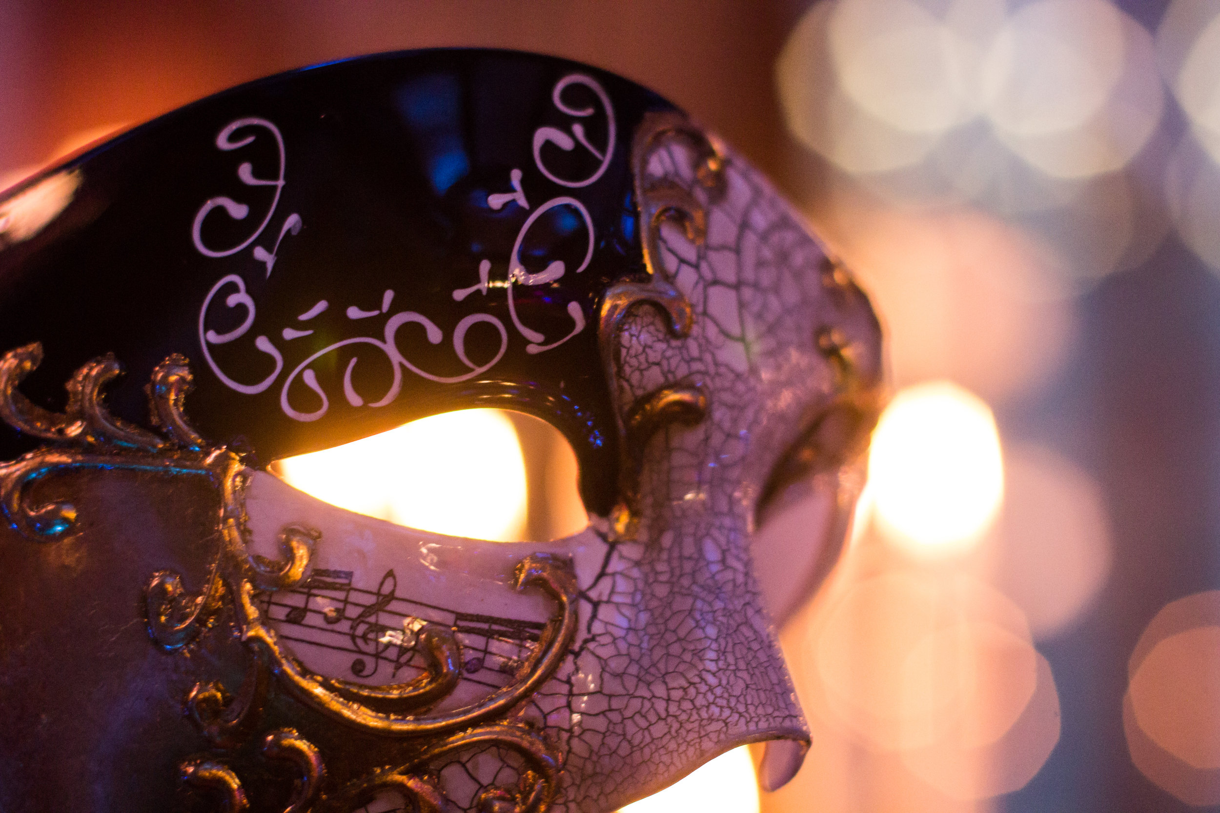 Masquerade magic with intricately decorated masks