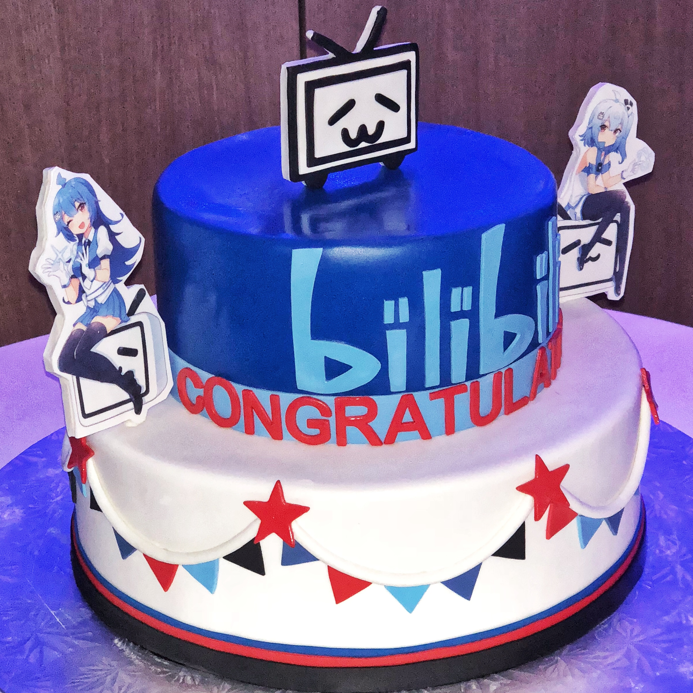 Animation themed cake designed specially to celebrate BiliBili listing