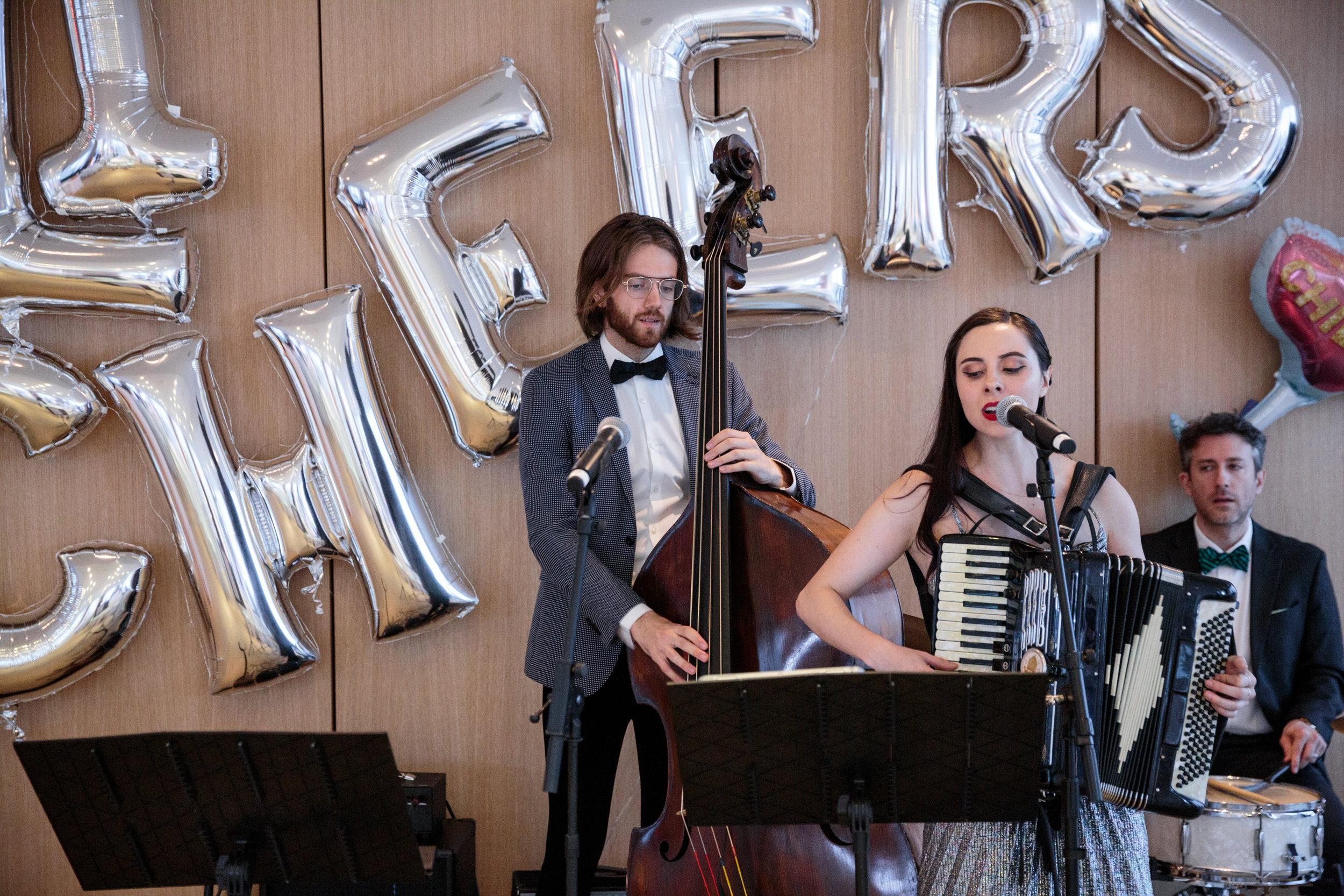 Talented jazz group plays for guests throughout dinner