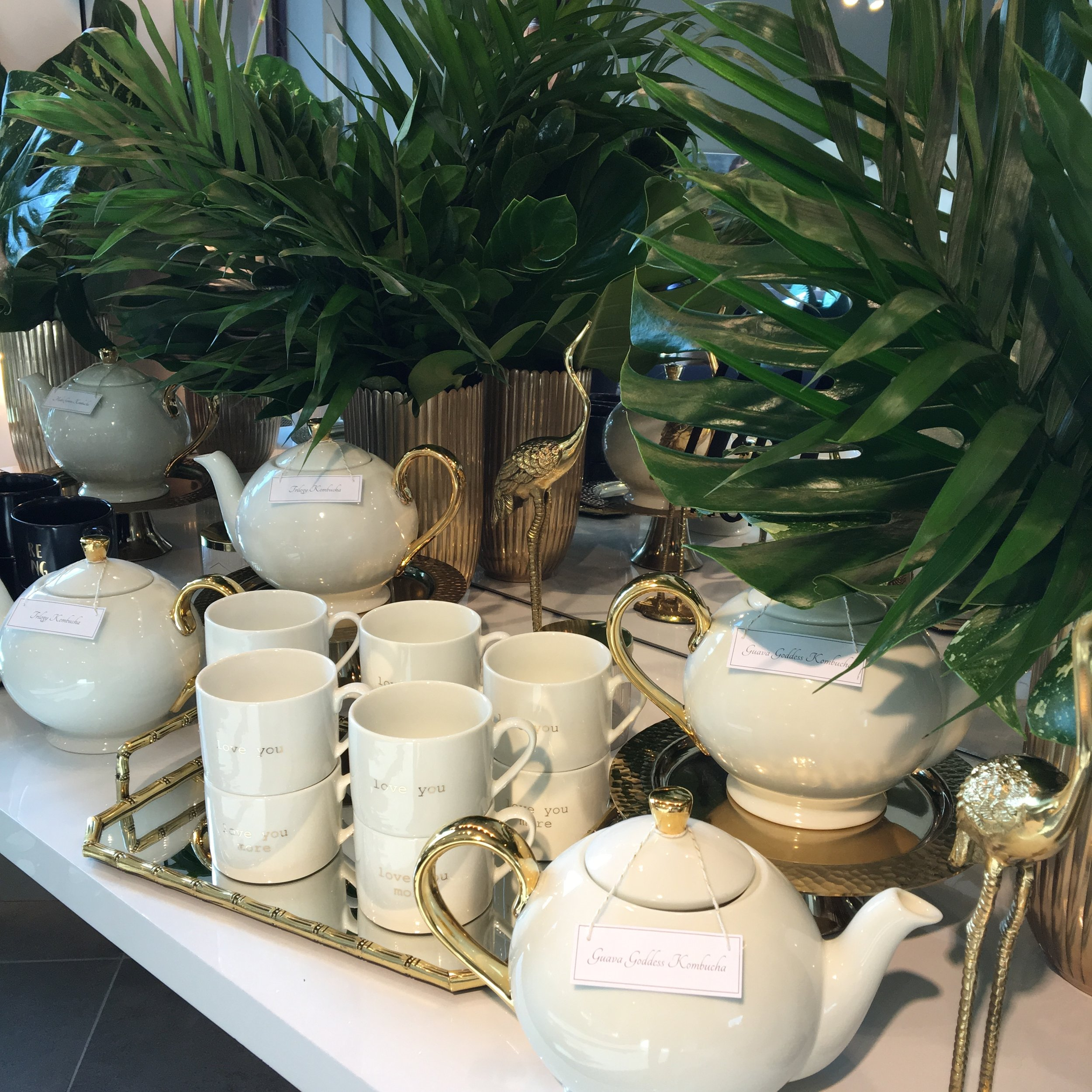 H&M Home Collection surrounded by greenery