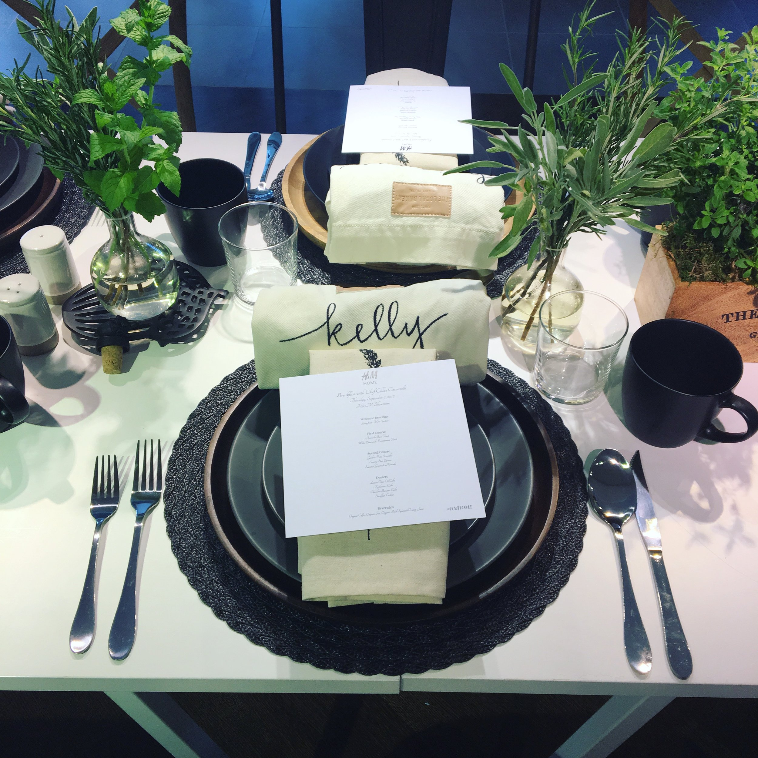H&M tablesetting