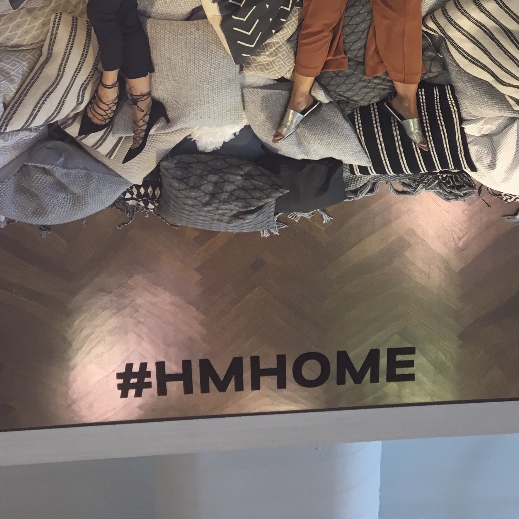 H&M branded ceiling mirror