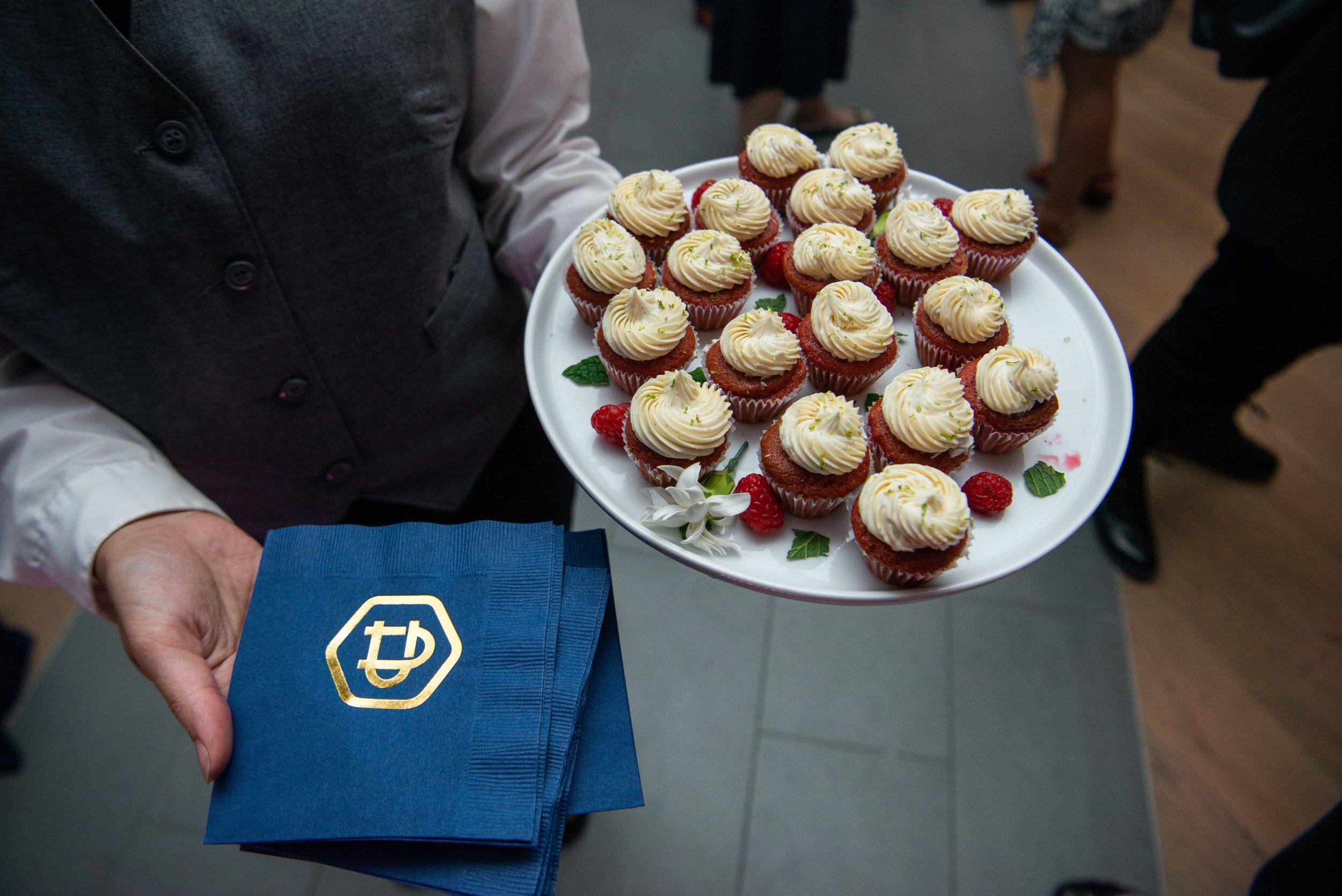 Union Square Raspberry Cupcake with Vanilla Buttercream