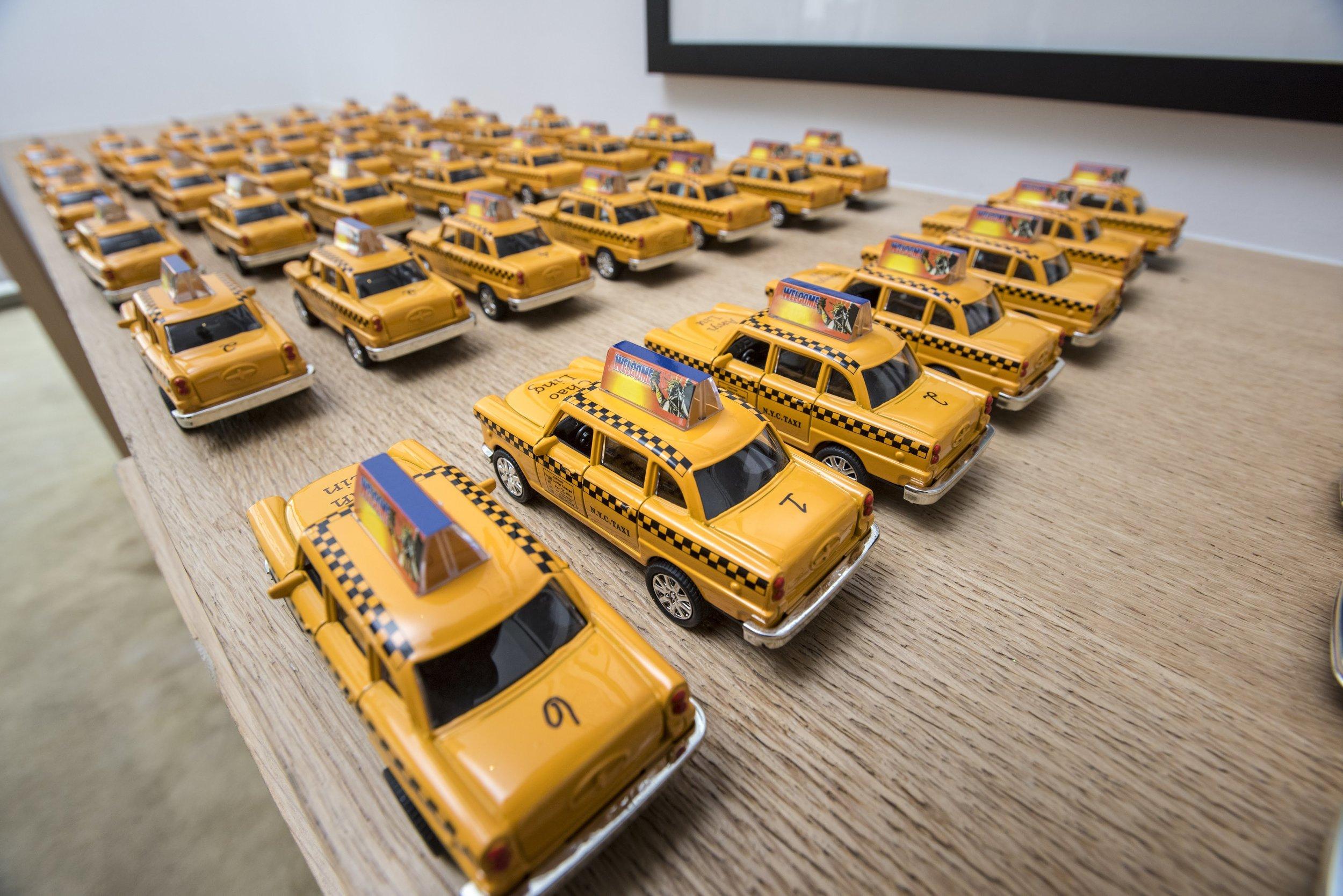 Taxi cab escort cards