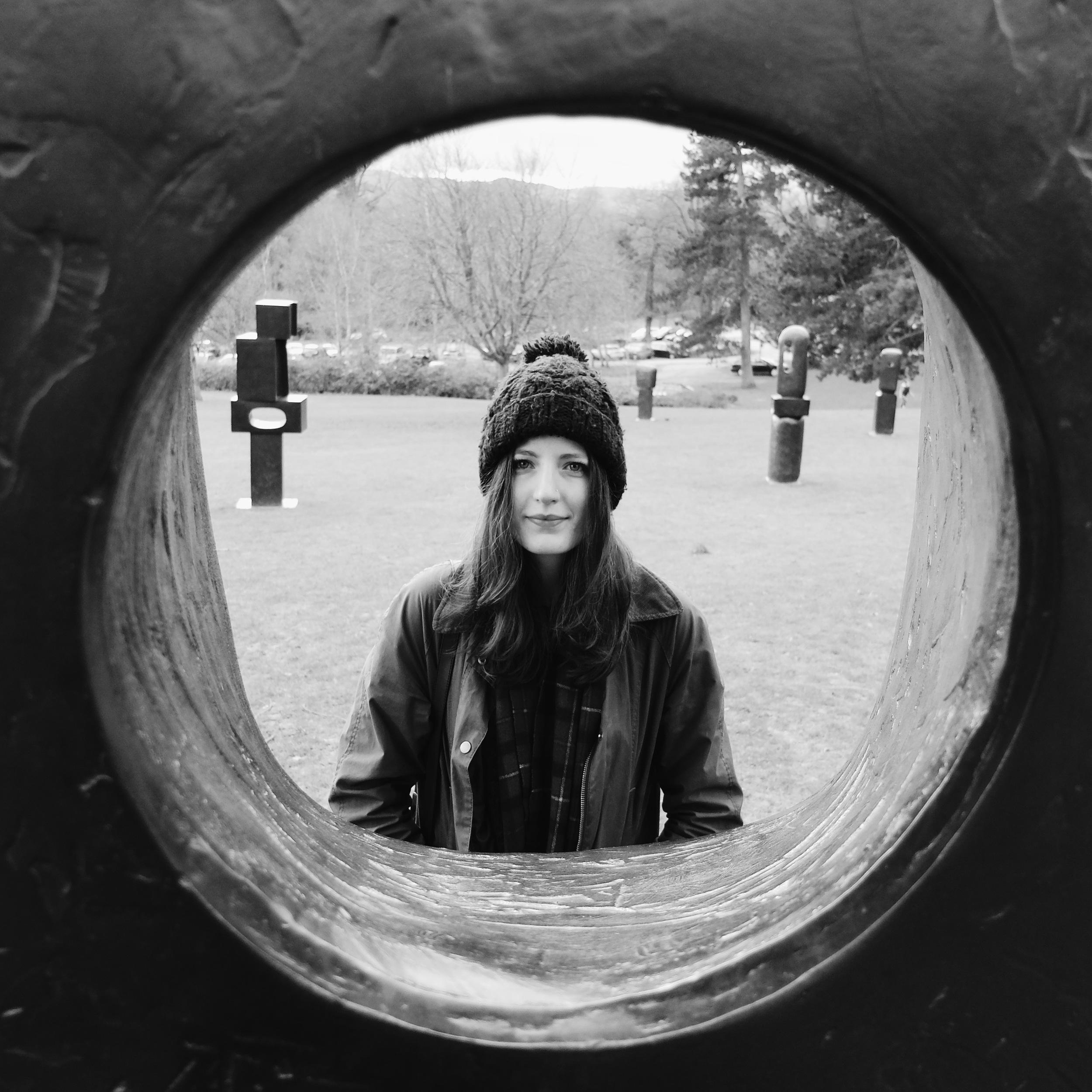 looking through a Barbara Hepworth