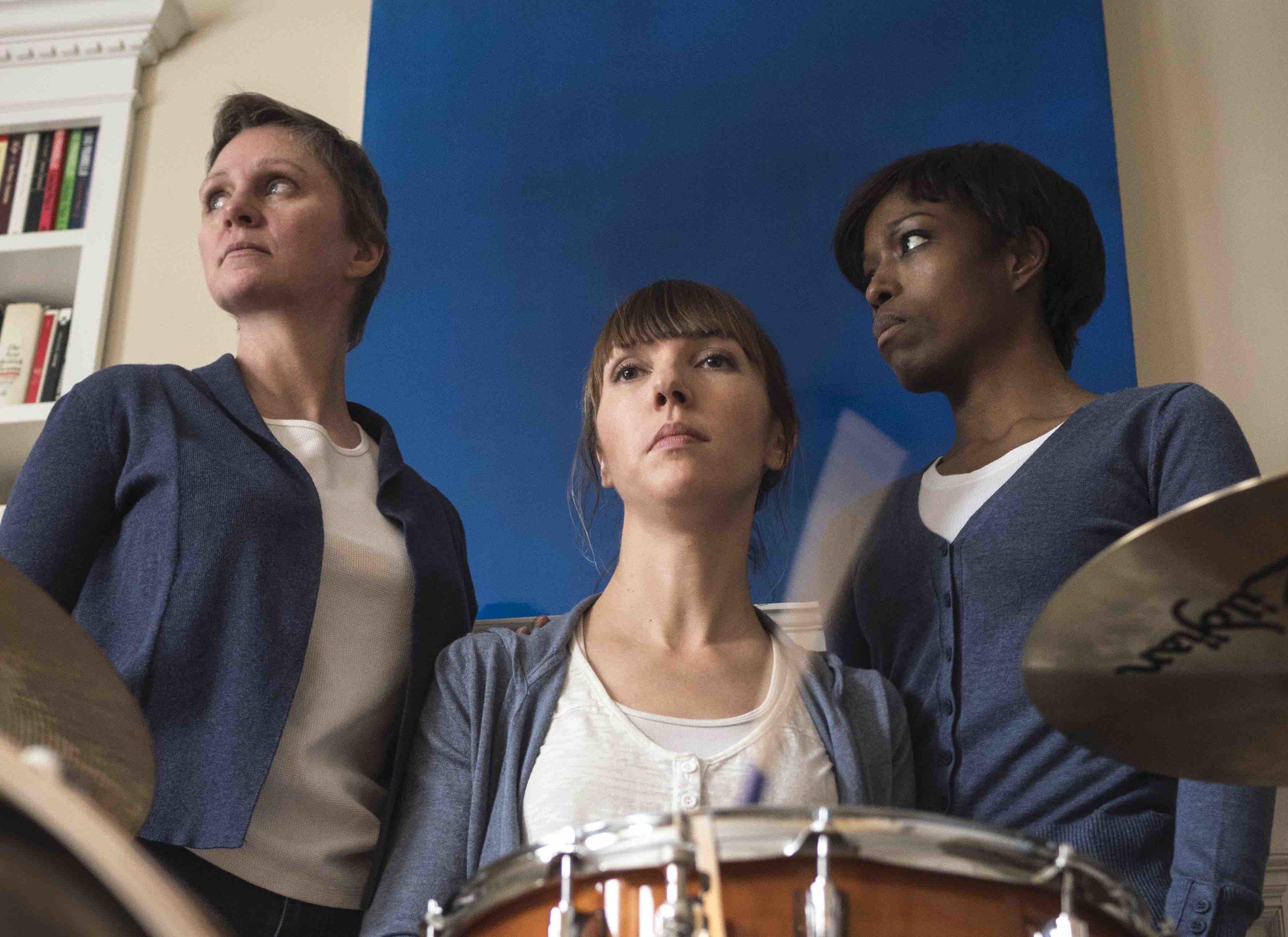 Deborah Drakeford, Lynette Gillis and Kim Nelson steer clear of sensationalism in disturbing verbatim play. (Yuri Dojc)