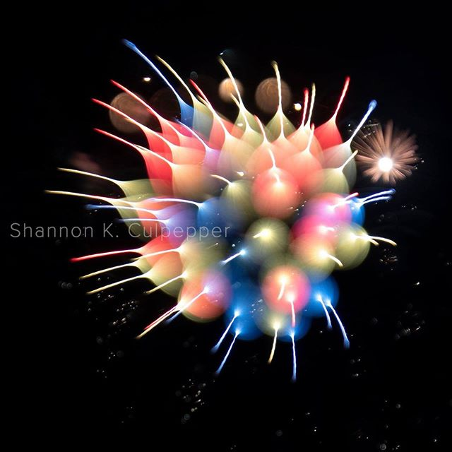 I tried a fun new process last night on my fireworks shots and I love the results. Photo by Shannon K. Culpepper #fireworks #salem #color #abstractart #4thofjuly