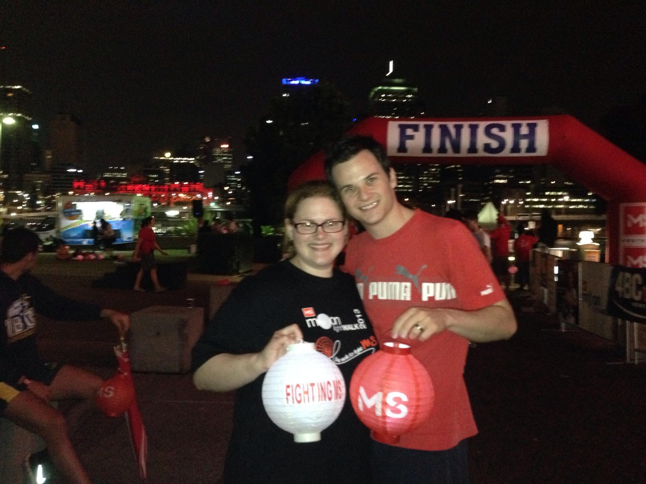 Melissah & I after completing the 10km Moonlight walk 2013