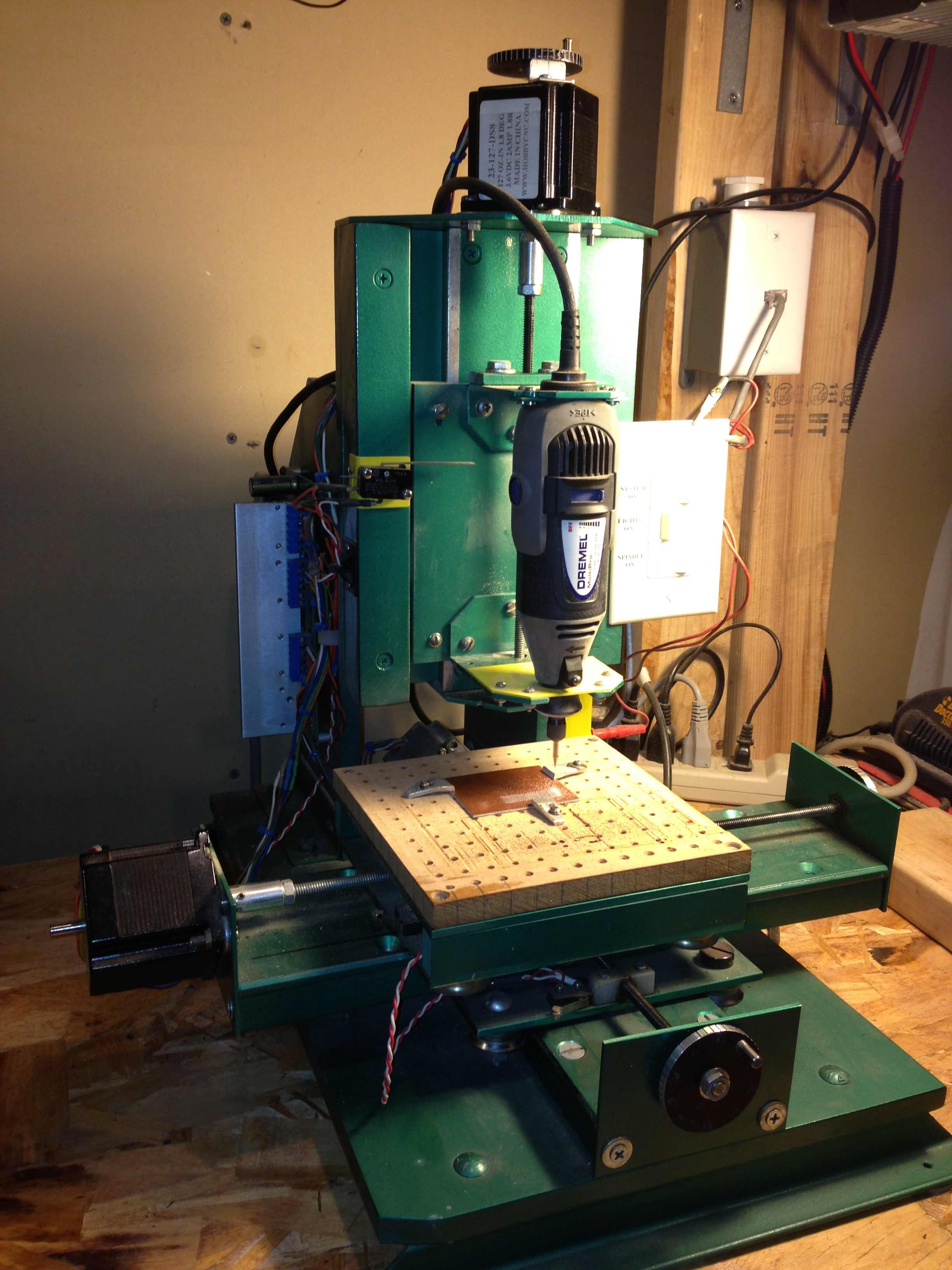 iPhone photo - CNC mill for making PCB prototypes