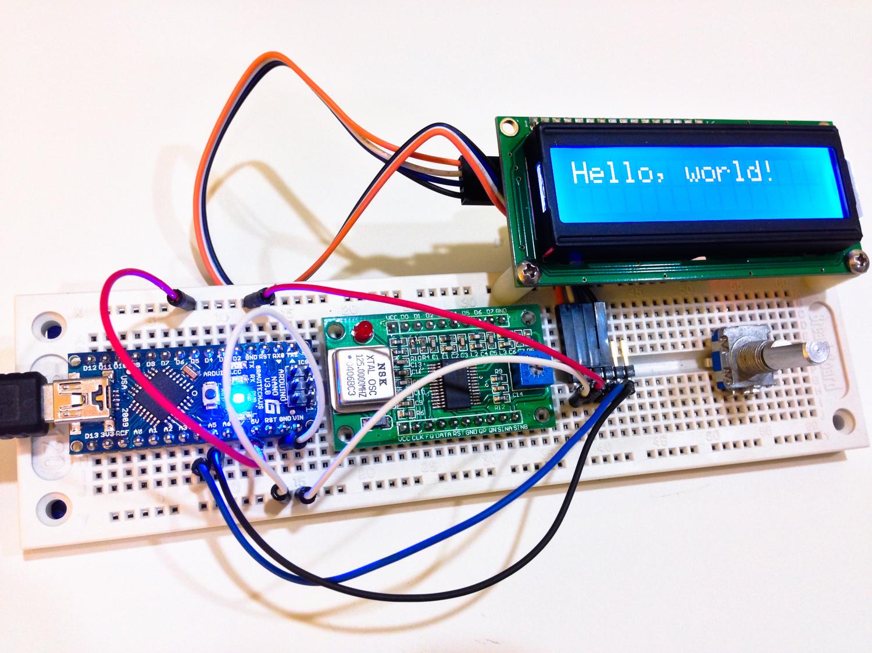 iPhone photo - Arduino Nano talking to I2C LCD
