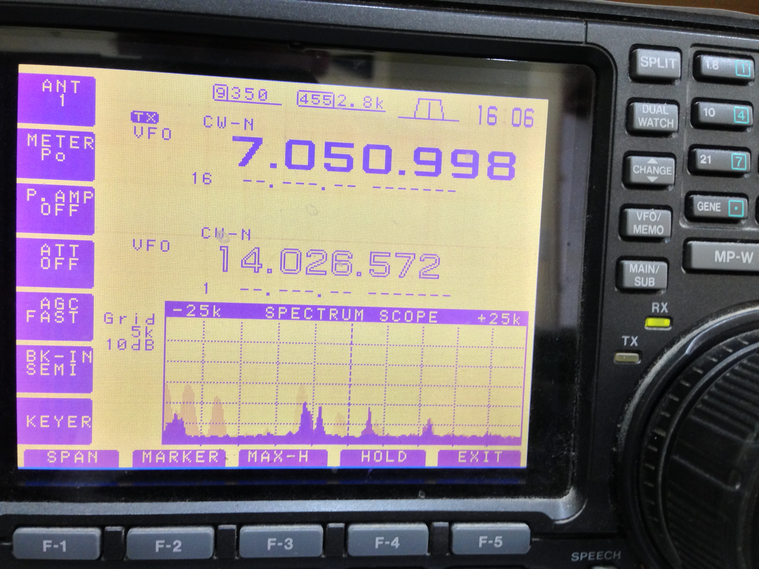 iPhone photo - IC756 for CW ops