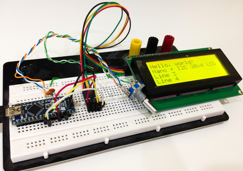 Arduino Nano + I2C 20x4 LCD + rotary encoder