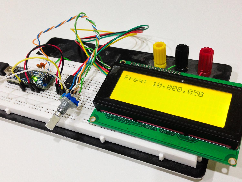 A VFO looking display. Nano + I2C 20x4 LCD + encoder