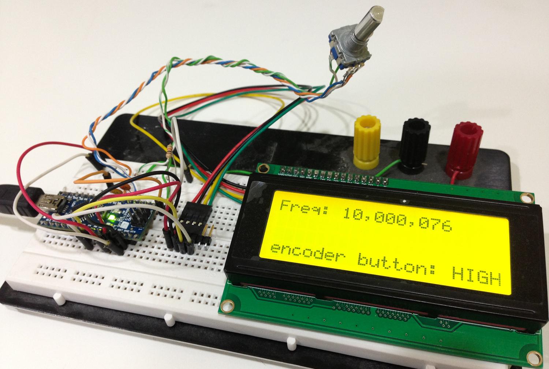 Nano + I2C 20x4 LCD + encoder