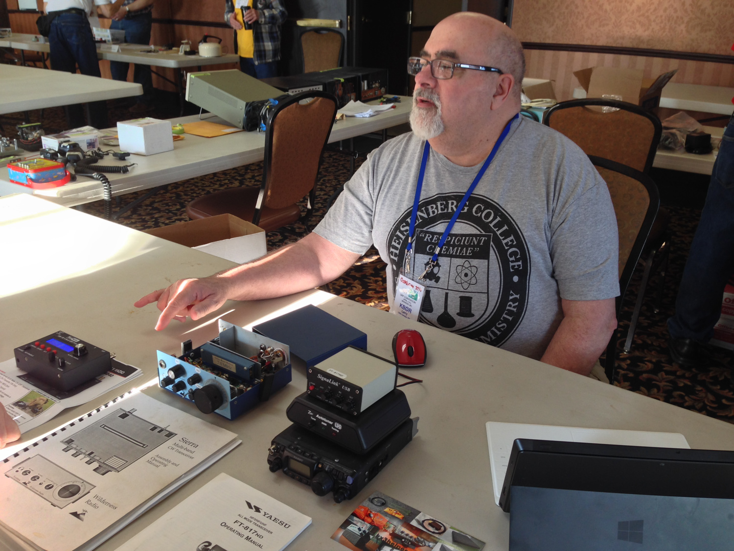 Larry is talking to folks about some rigs that he is selling