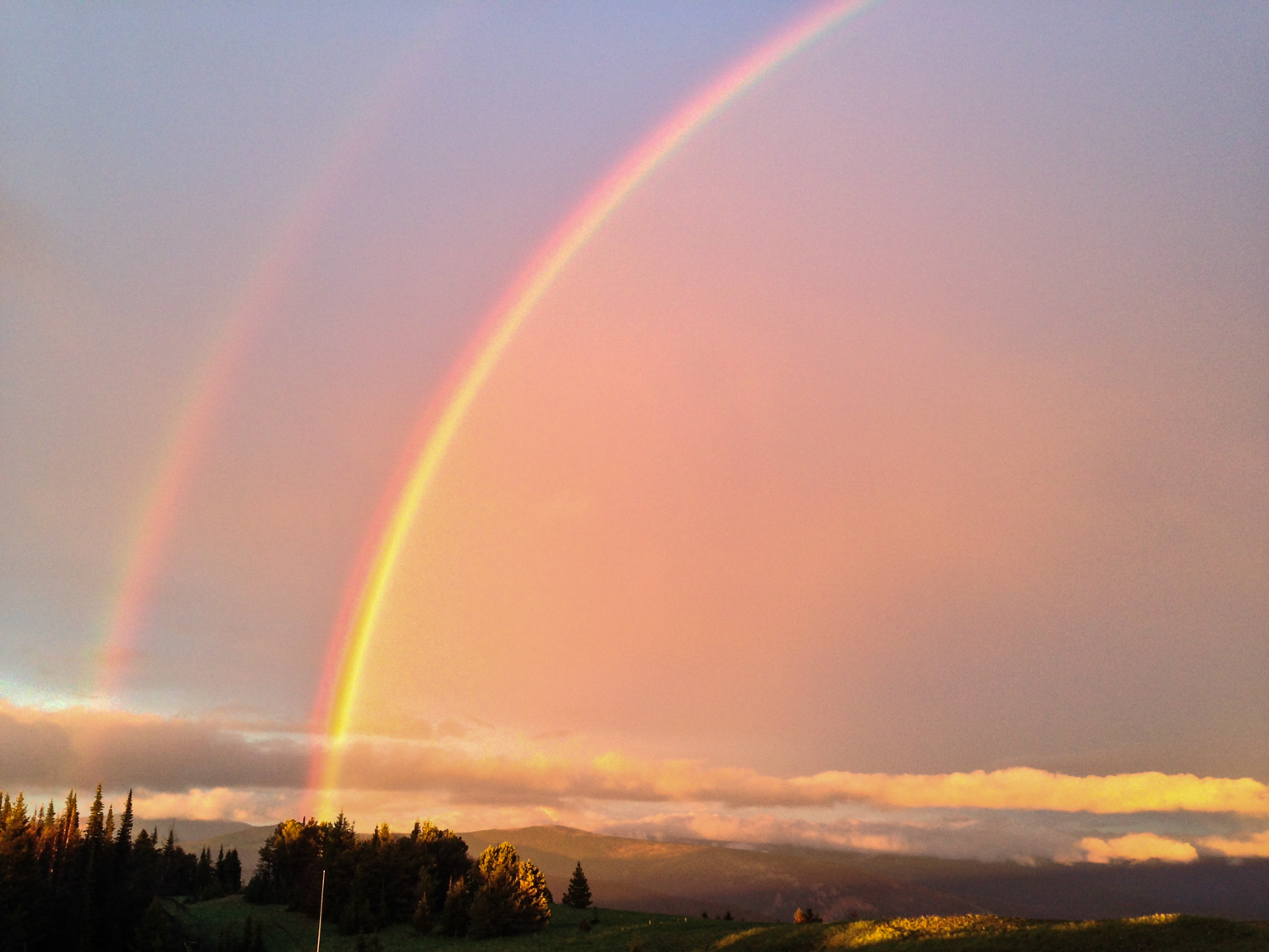 Did I mention the rainbows after brief rain showers