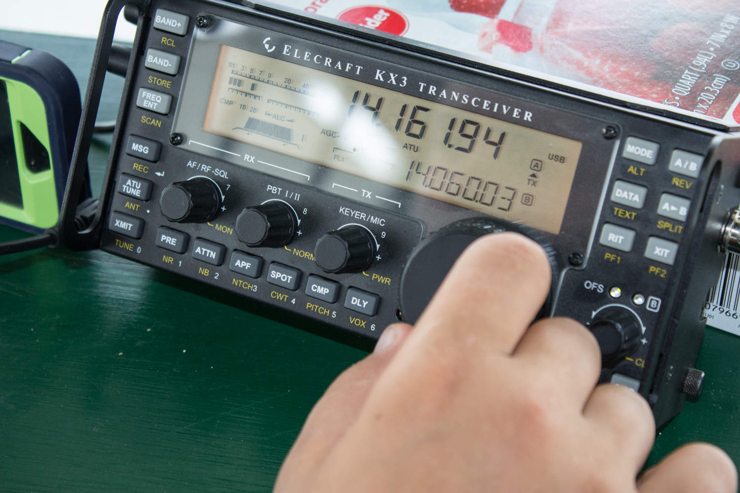"""Our Elecraft KX3 is our """"go to"""" travel radio for trips"""