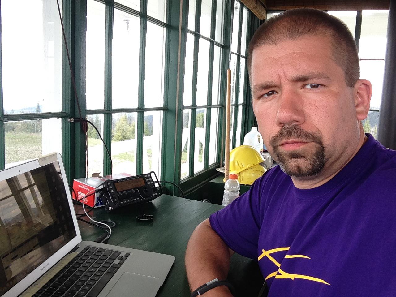 John getting ready to operate CW
