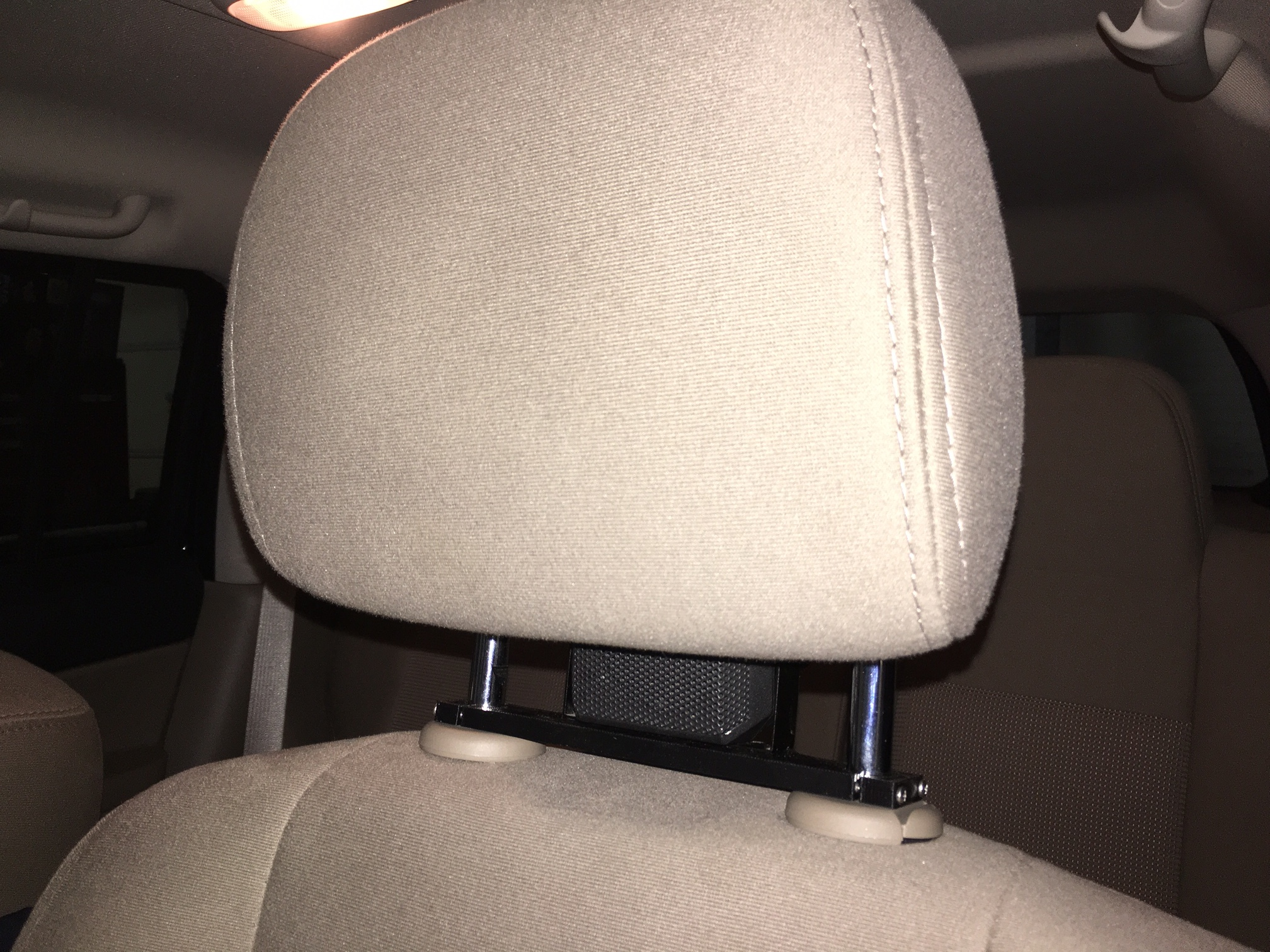 Here it is installed in my Jeep Patriot. Unless you were looking for it most people would never even know that it is there.