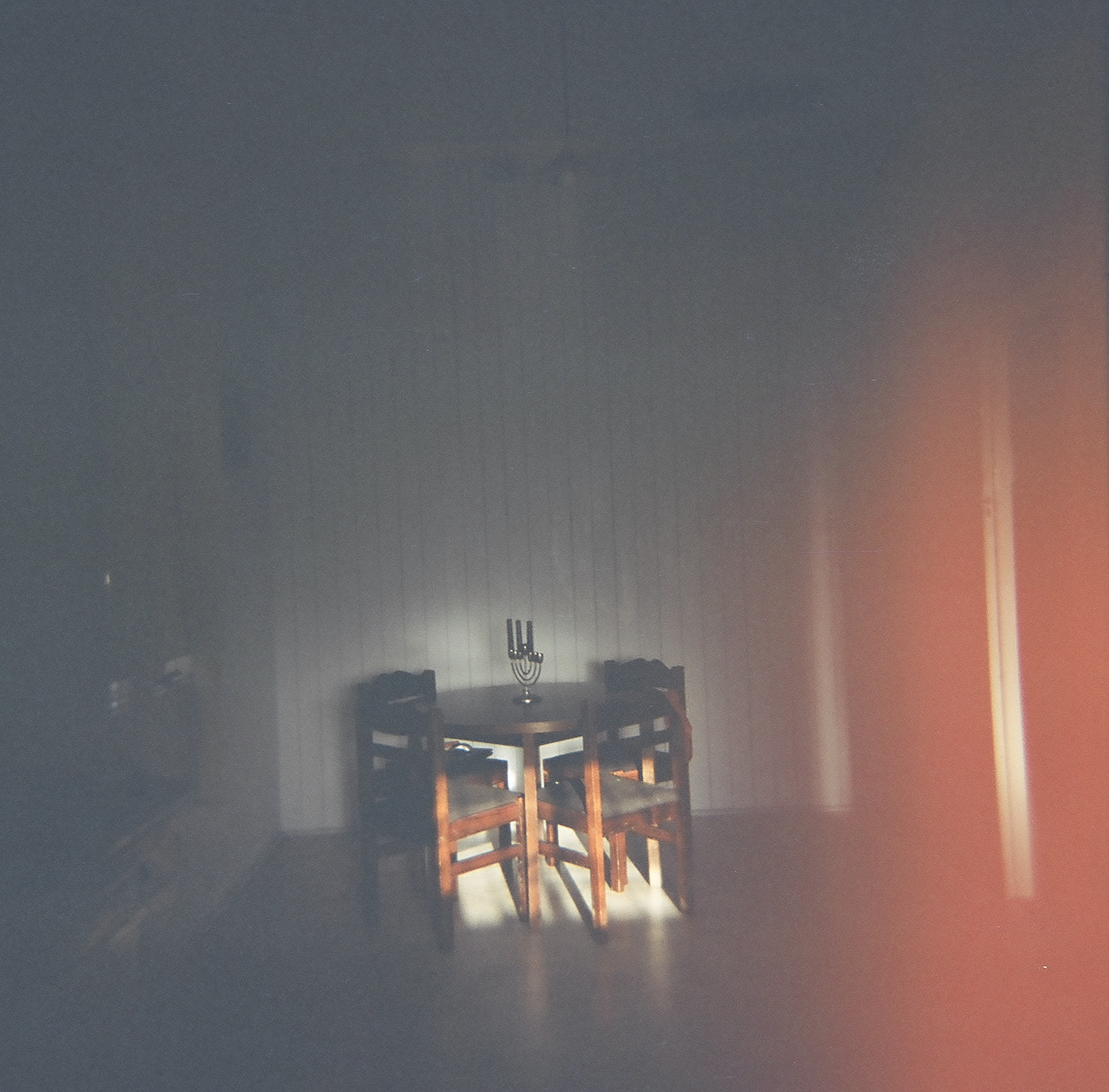 A dining room illuminated by sunlight, shot on 120mm film