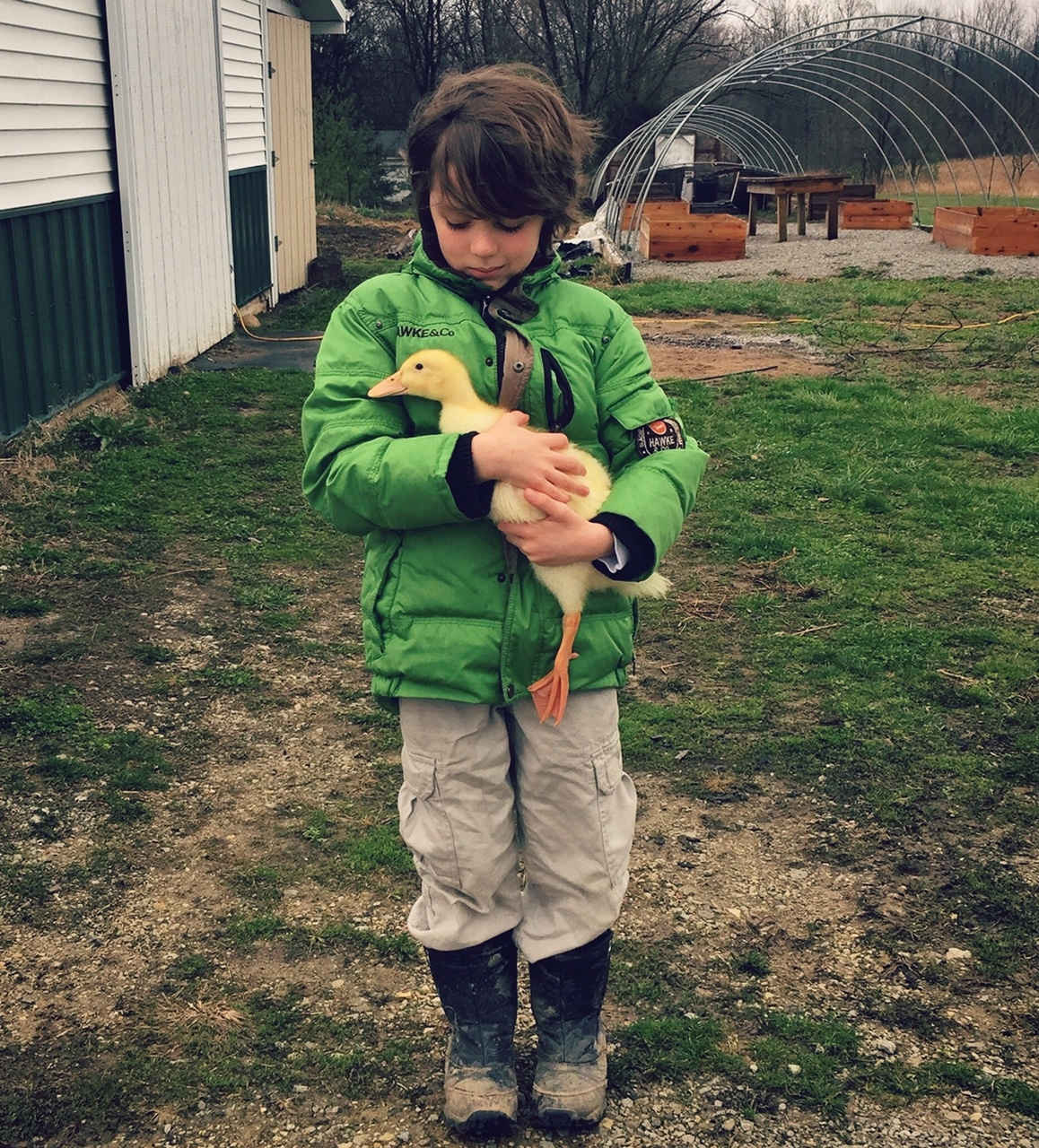 Boy and Duckling- Kathryn Proto Photography