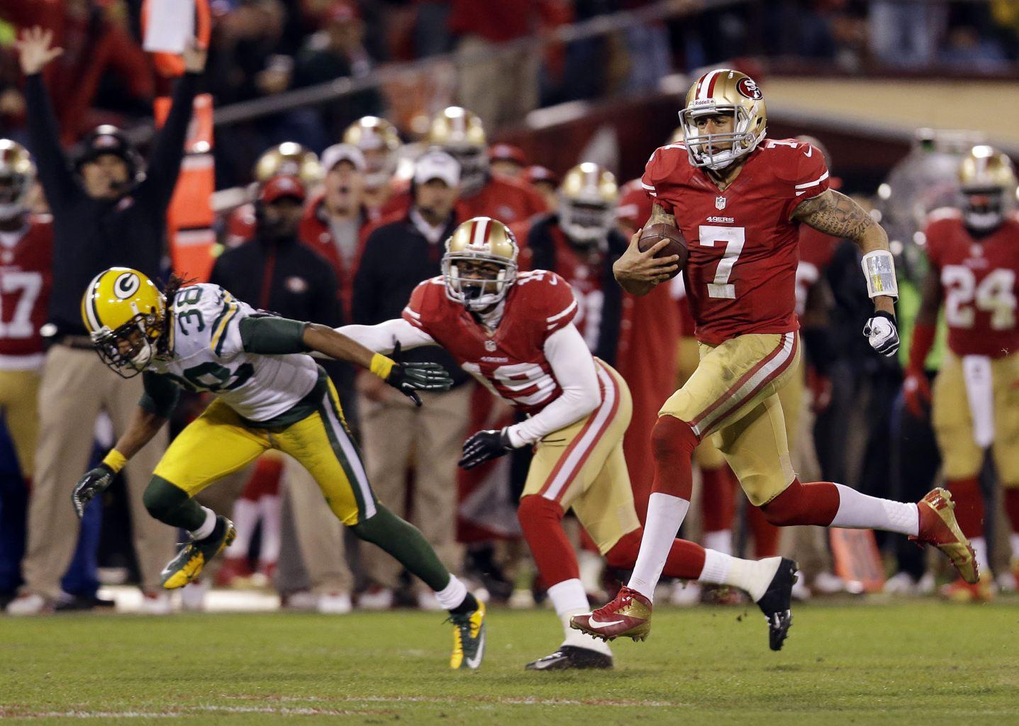 COLIN KAEPERNICK , SAN FRANCISCO 49ERS (Macio Jose Sanchez/Associated Press)