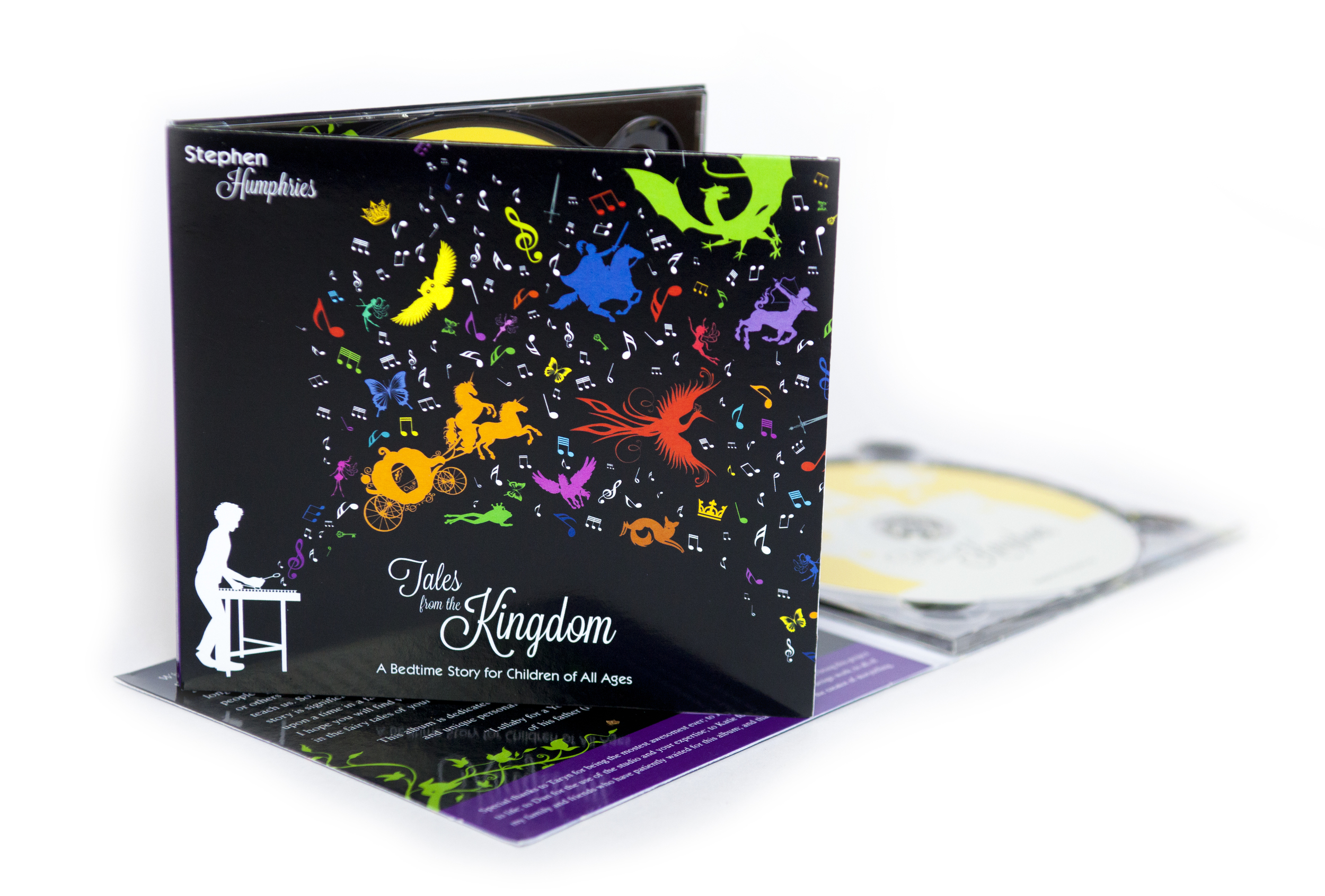 This storybook themed cover was designed for a concept album recorded by Stephen Humphries