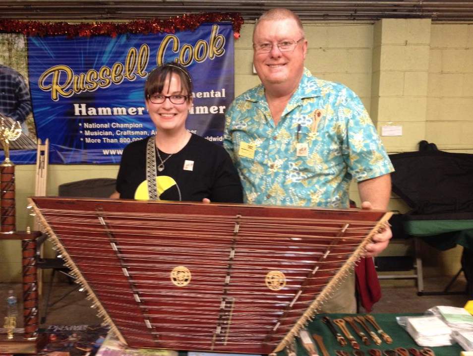 Me with Russell Cook and the instrument he built