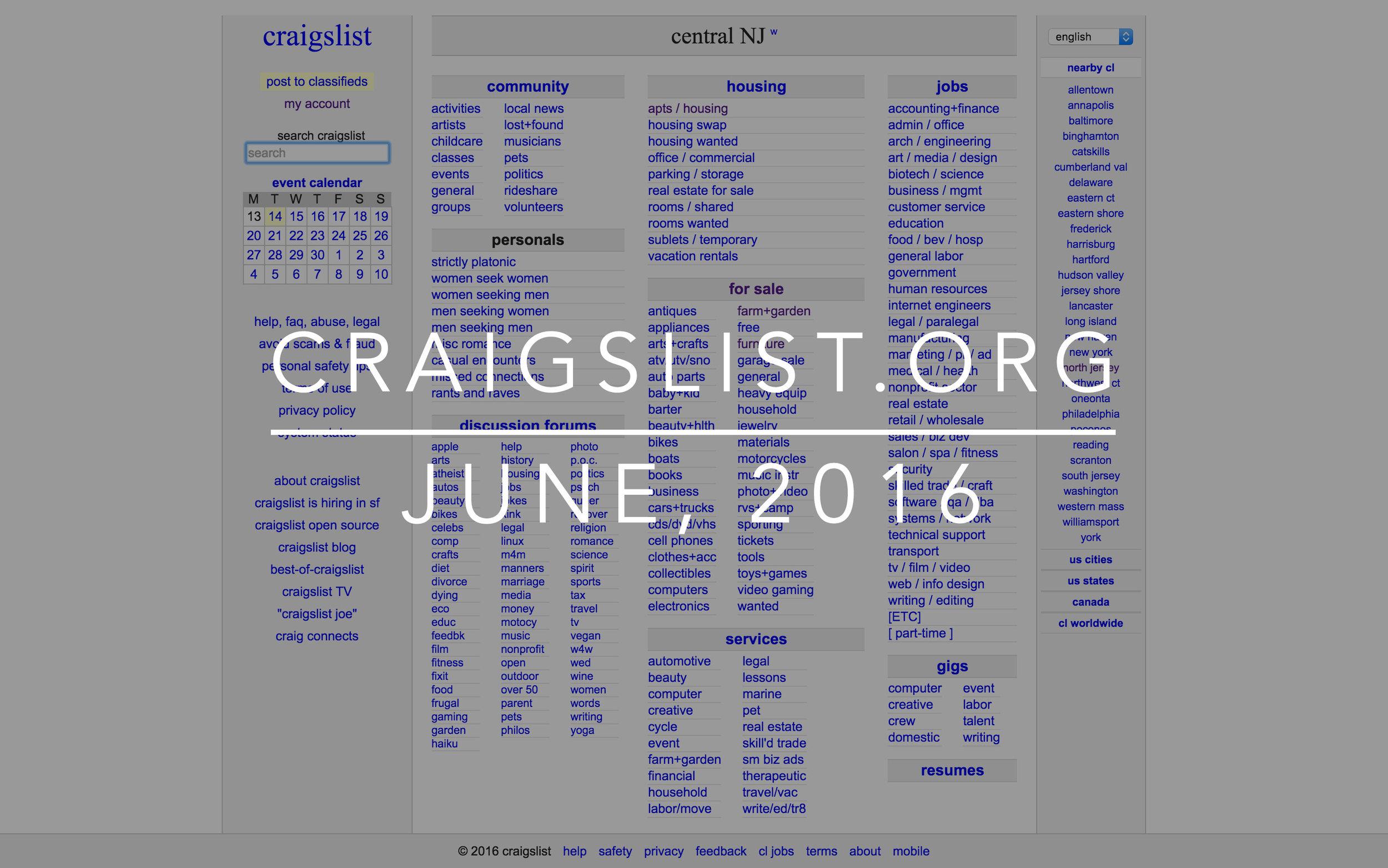 Cray Cray Craigslist — Brandon Detherage