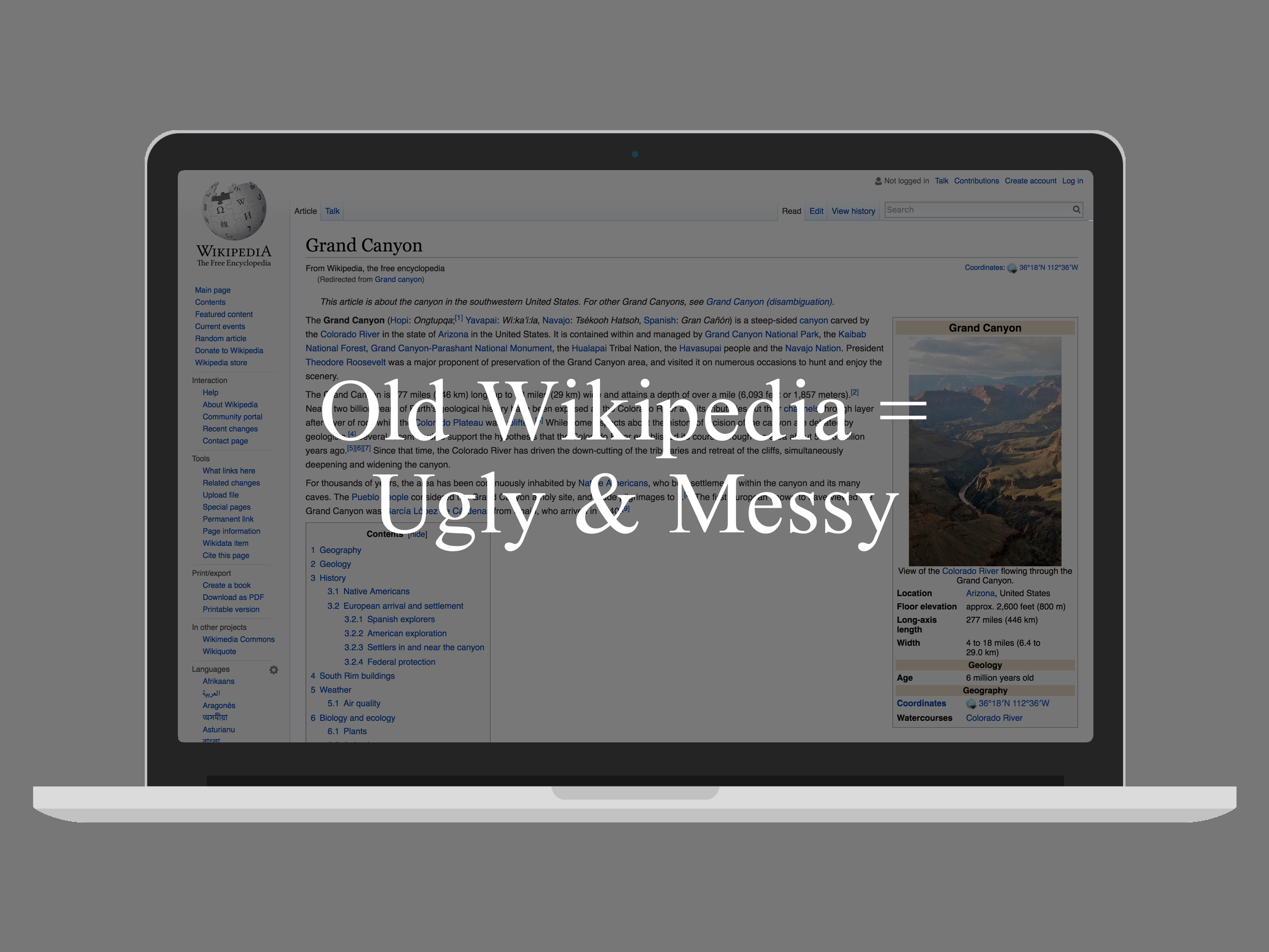 Wikipedia CSS Refresh - OLD WIKIPEDIA.jpg