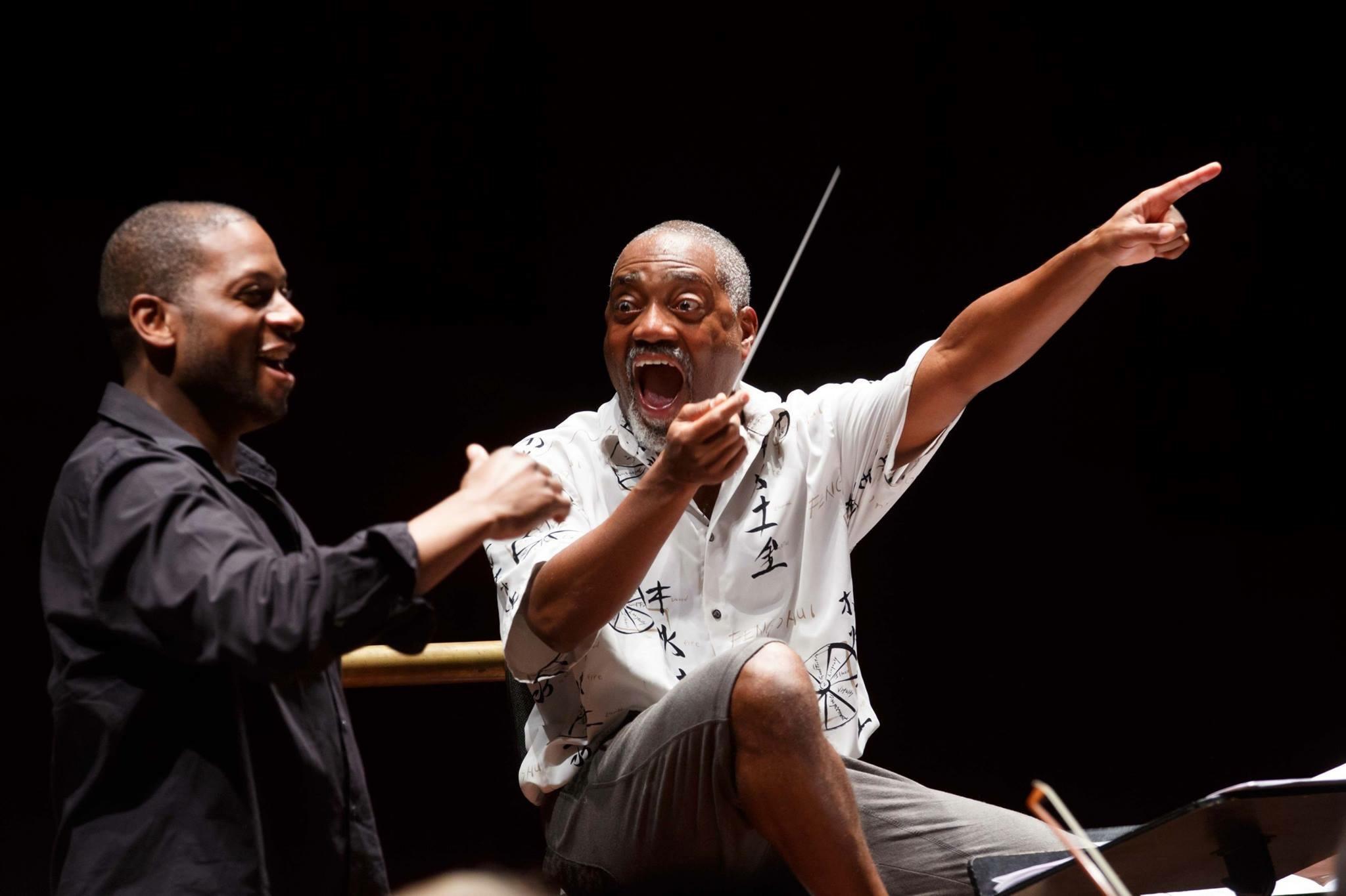Rodney as  Porgy  with maestro Bill Eddins.Porgy & Bess, Rome