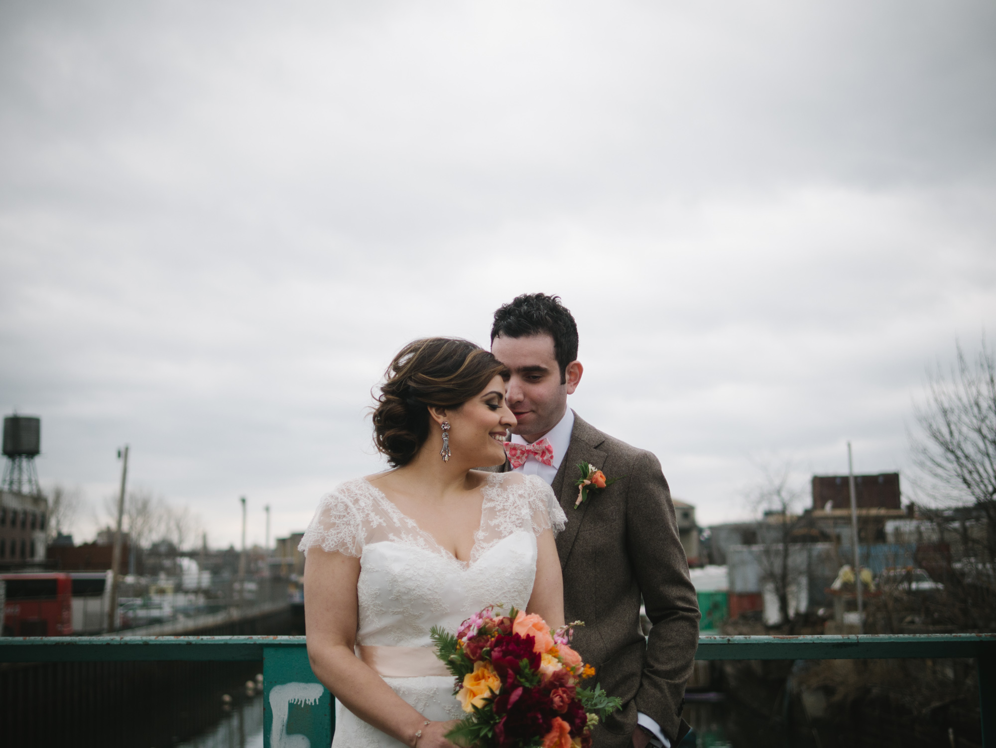 the green building brooklyn wedding spring