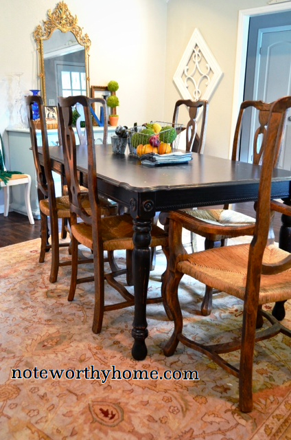 Black Weathered Farmhouse Table