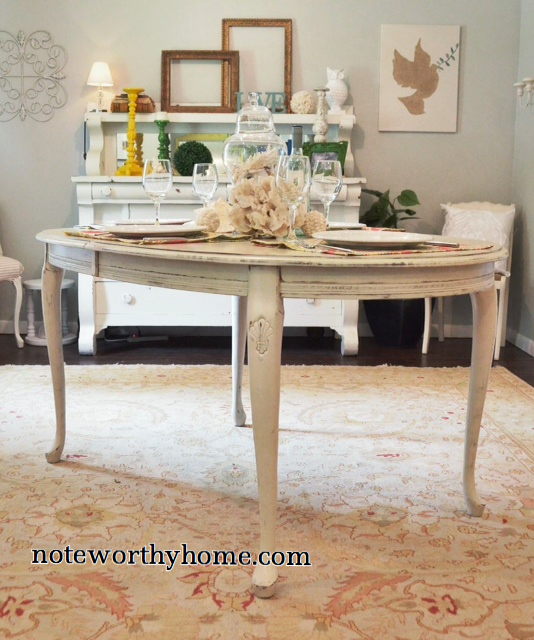 White Queen Anne Table