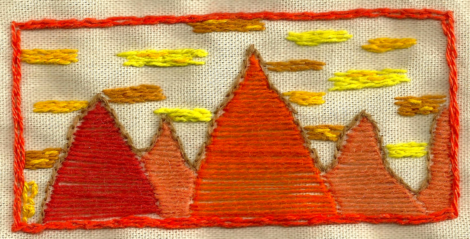 The First Embroidery   Embroidery on canvas  2013