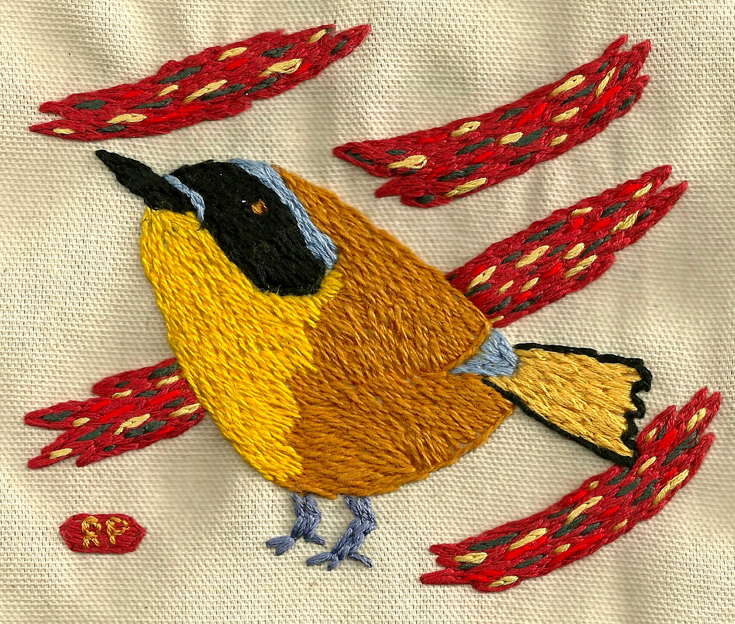 Carolina Chat    Embroidery on canvas   2013