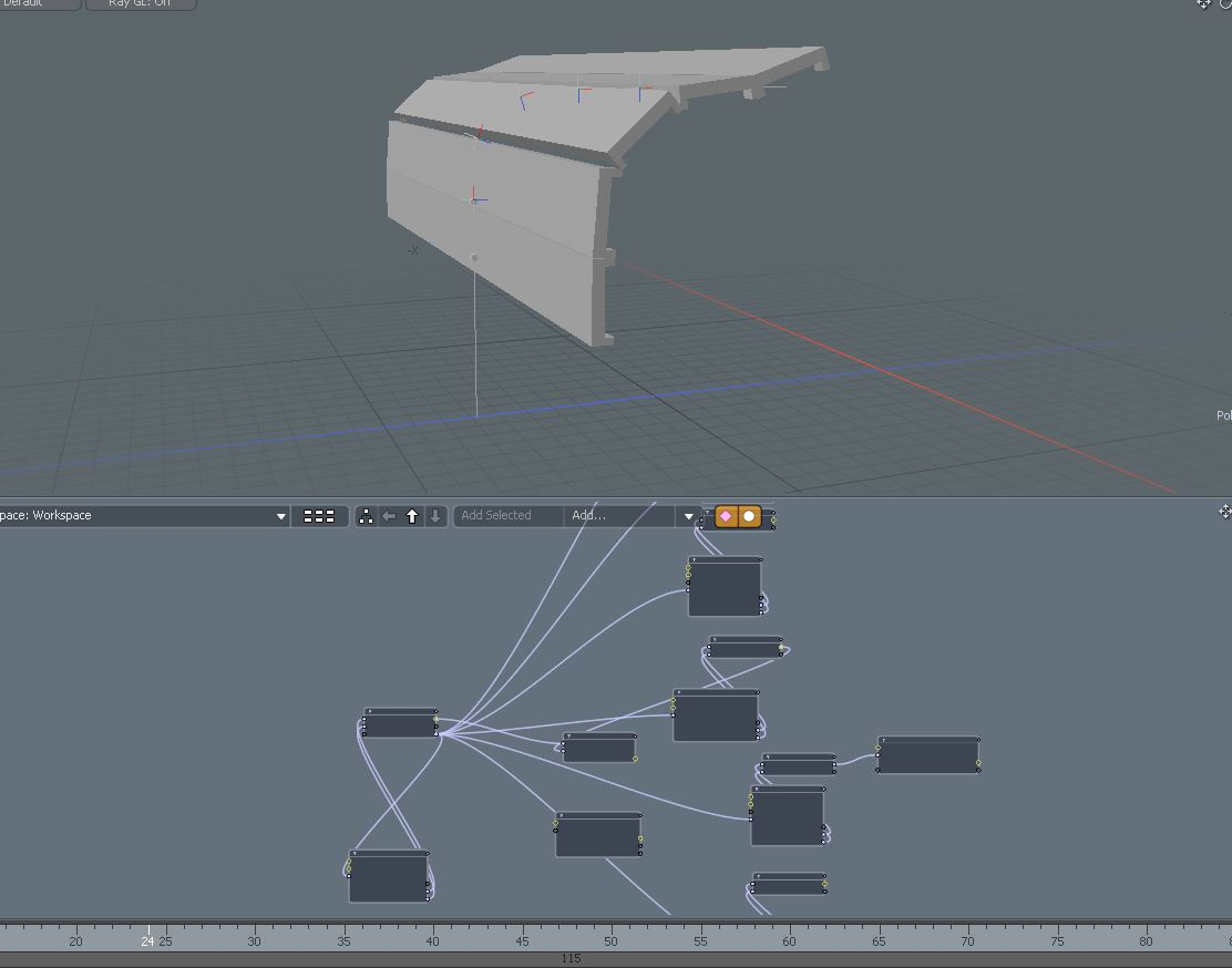 The Prototype Rig in Modo for the upcoming Garage Door Asset. (Check the bottom of the post for the animation video.)