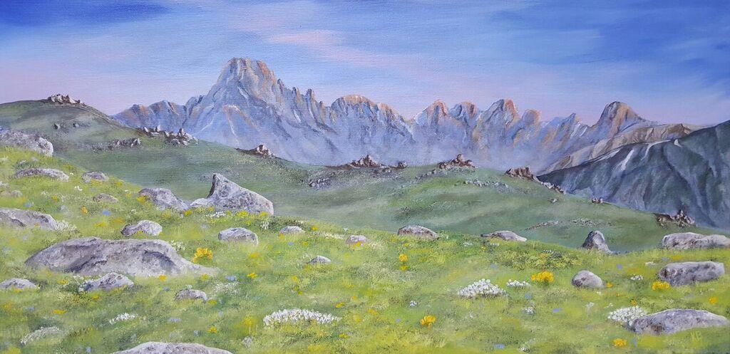Rocky Mountain National Park Oil on Canvas