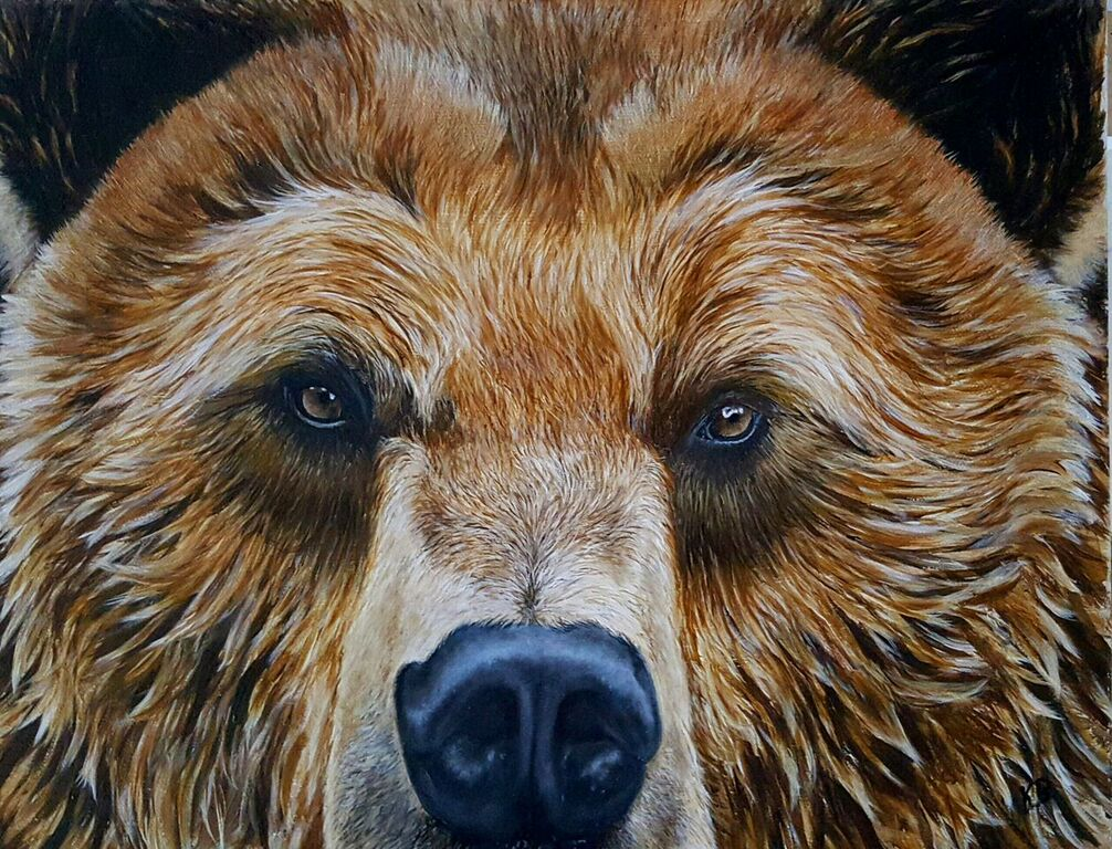 Grizzly Bear Oil on Canvas