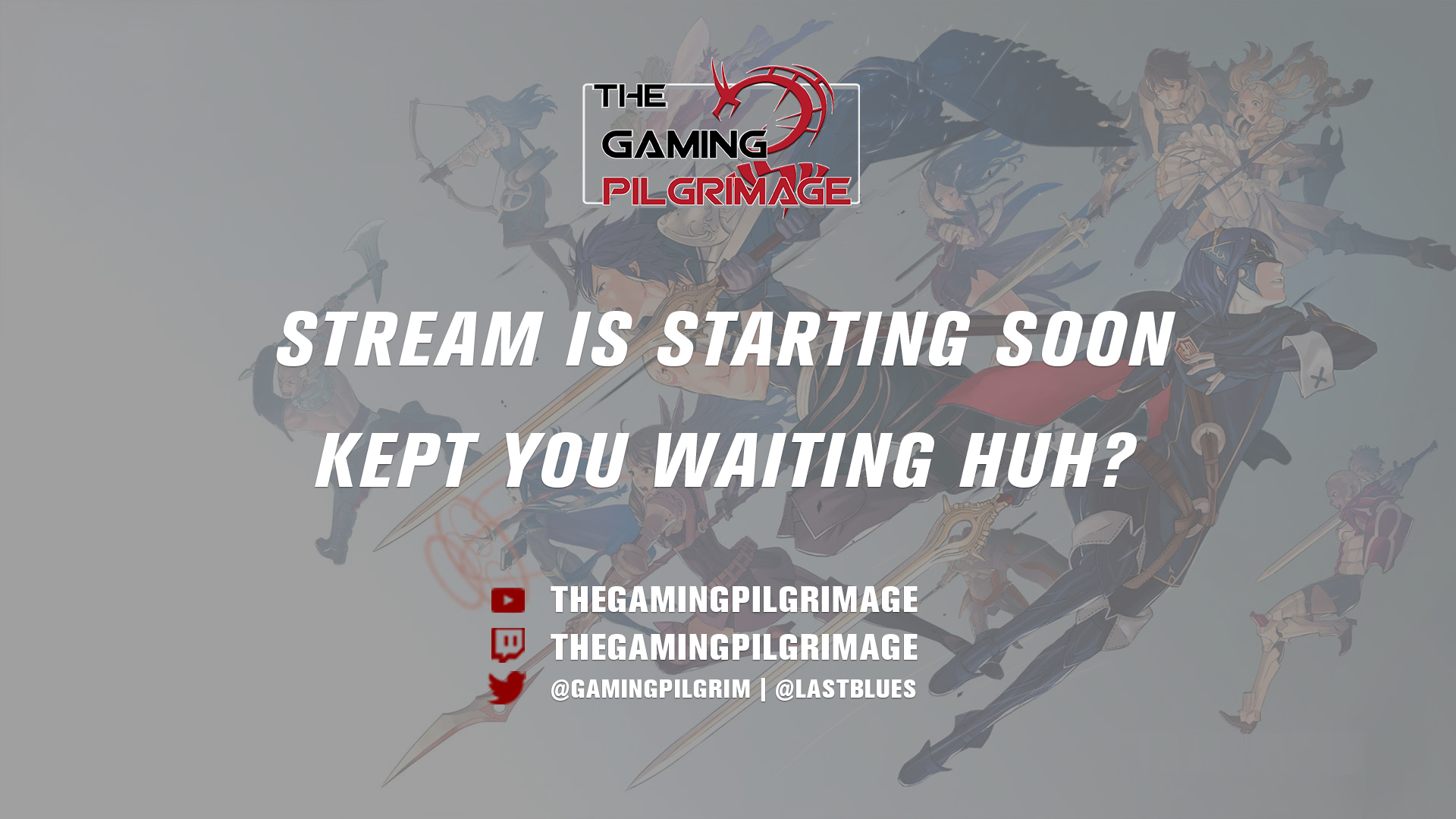 A status screen that shows up when the stream is starting
