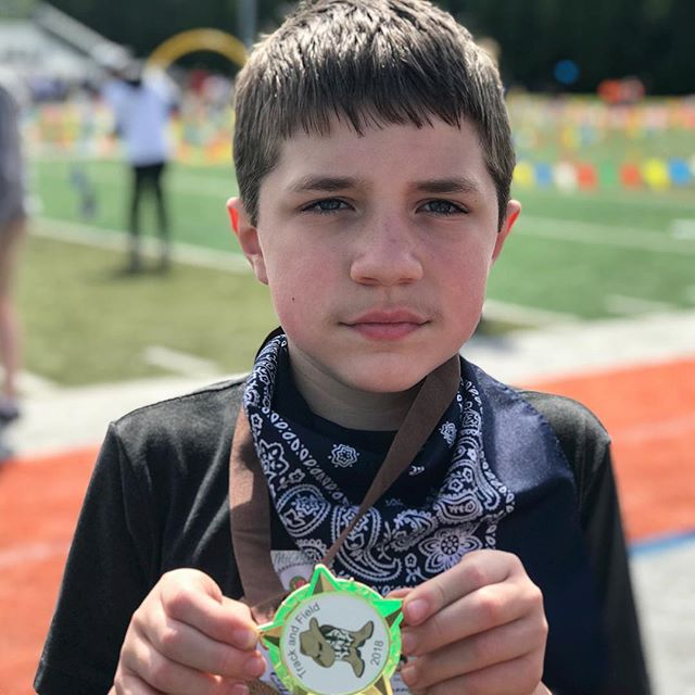 Michael runs for the medal. #autism #specialolympics #autismlife
